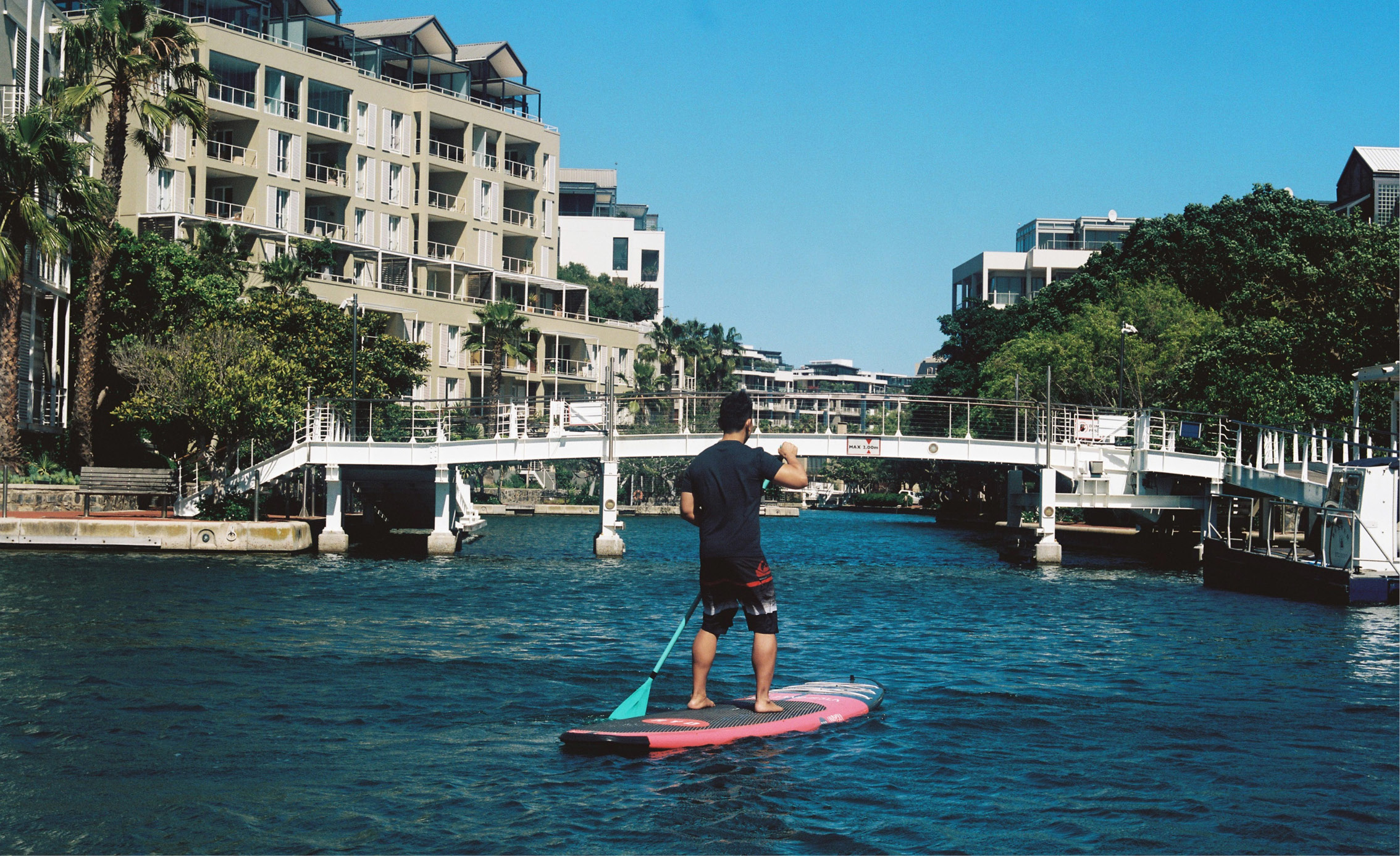 cape town paddle boarding city water