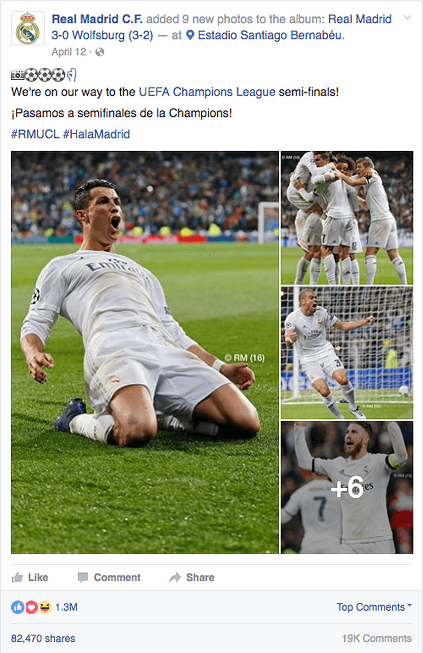 Real Madrid Facebook strategy