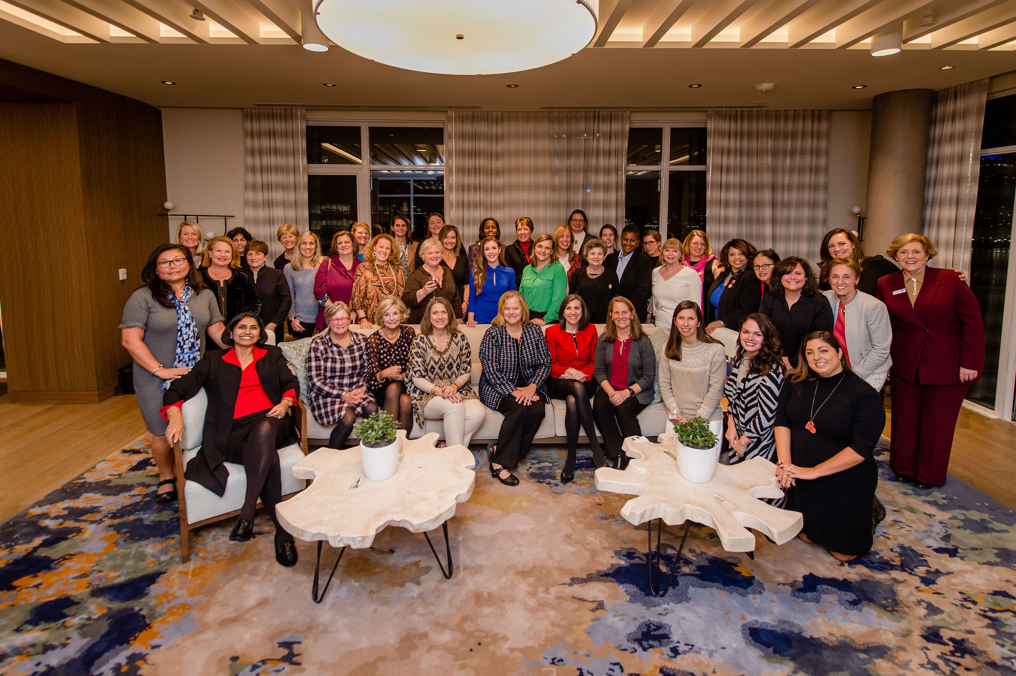Women United members gather for a group photo