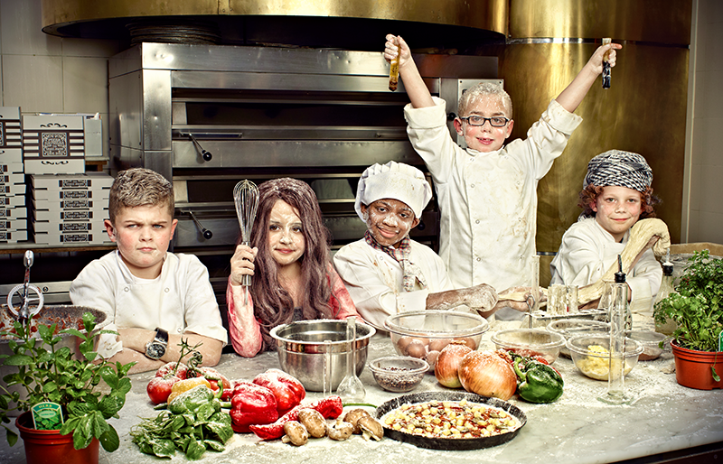 rhapsody, photography production, kitchen after madness, group photo