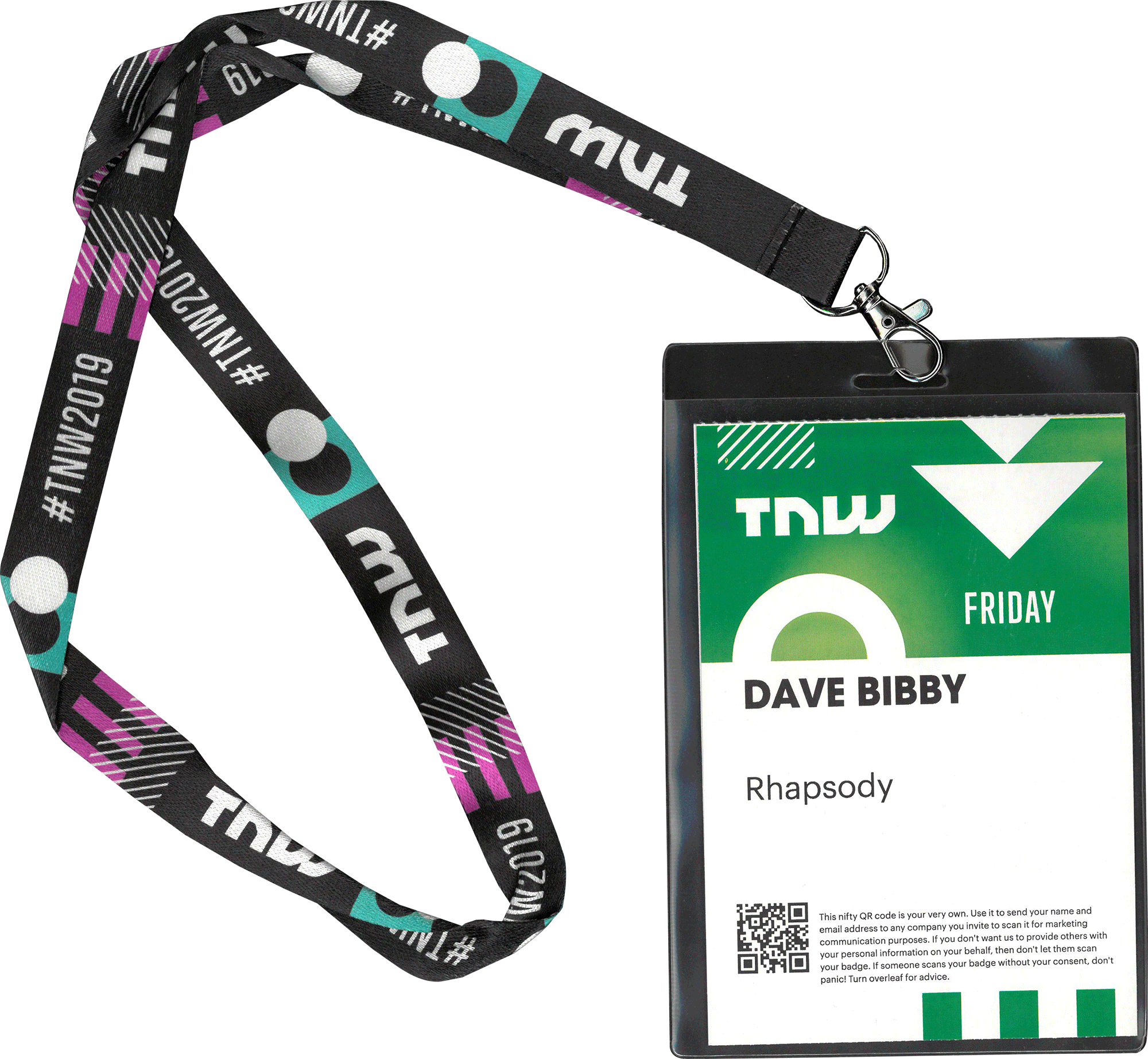 TNW 2019 Dave Bibby conference pass