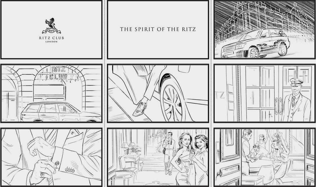 rhapsody, photography production, the Ritz Club storyboard