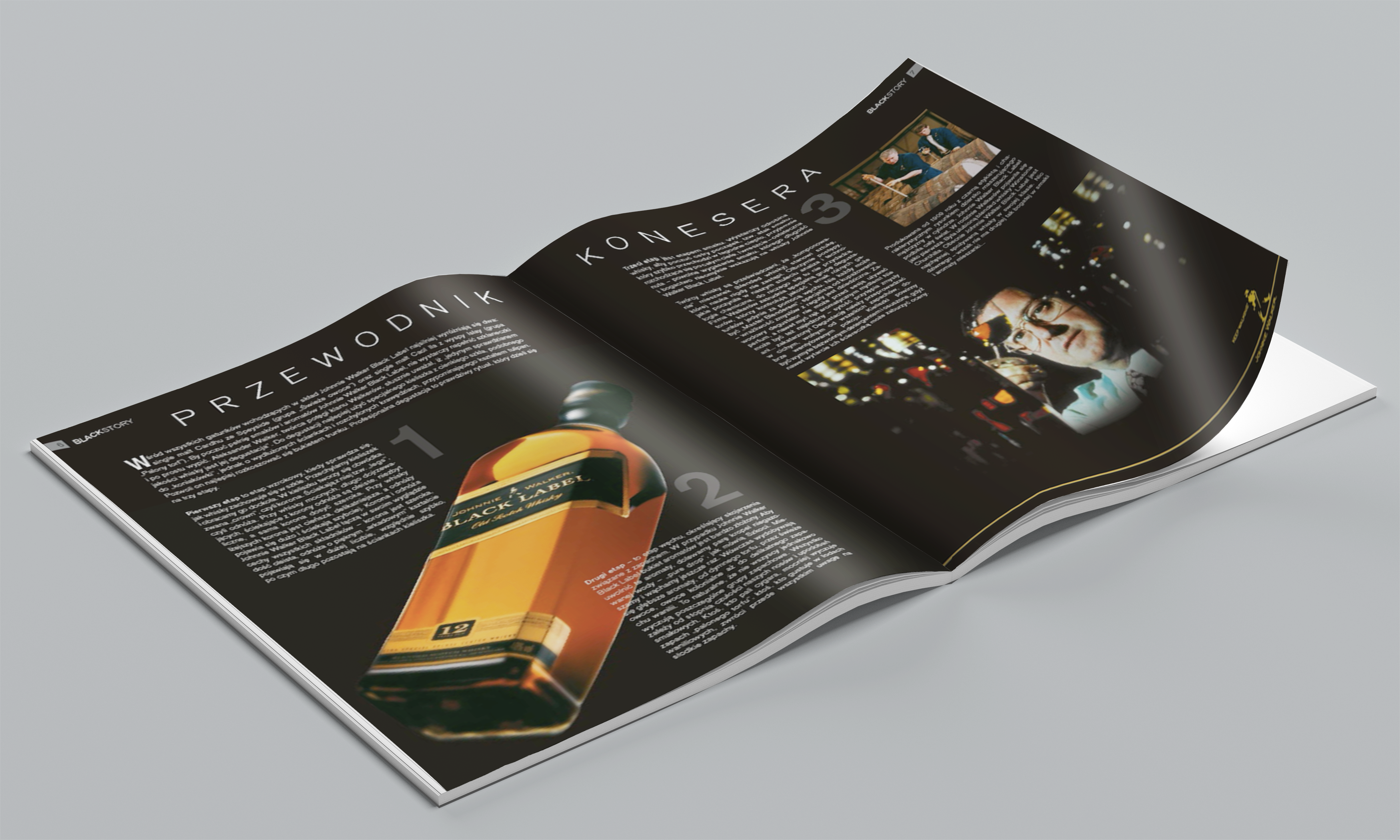 Magazine with article about whisky