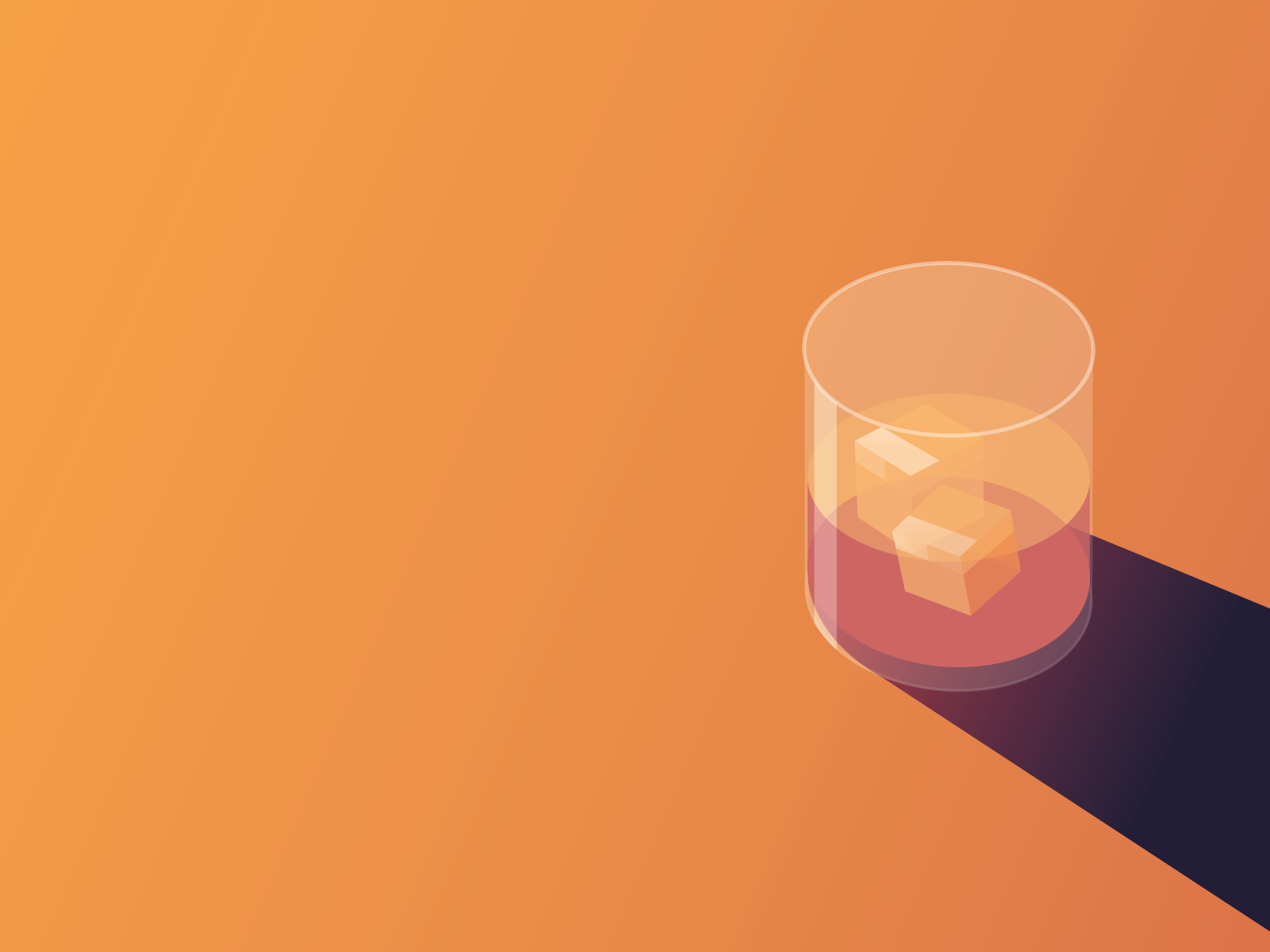 Illustration of whisky in glass
