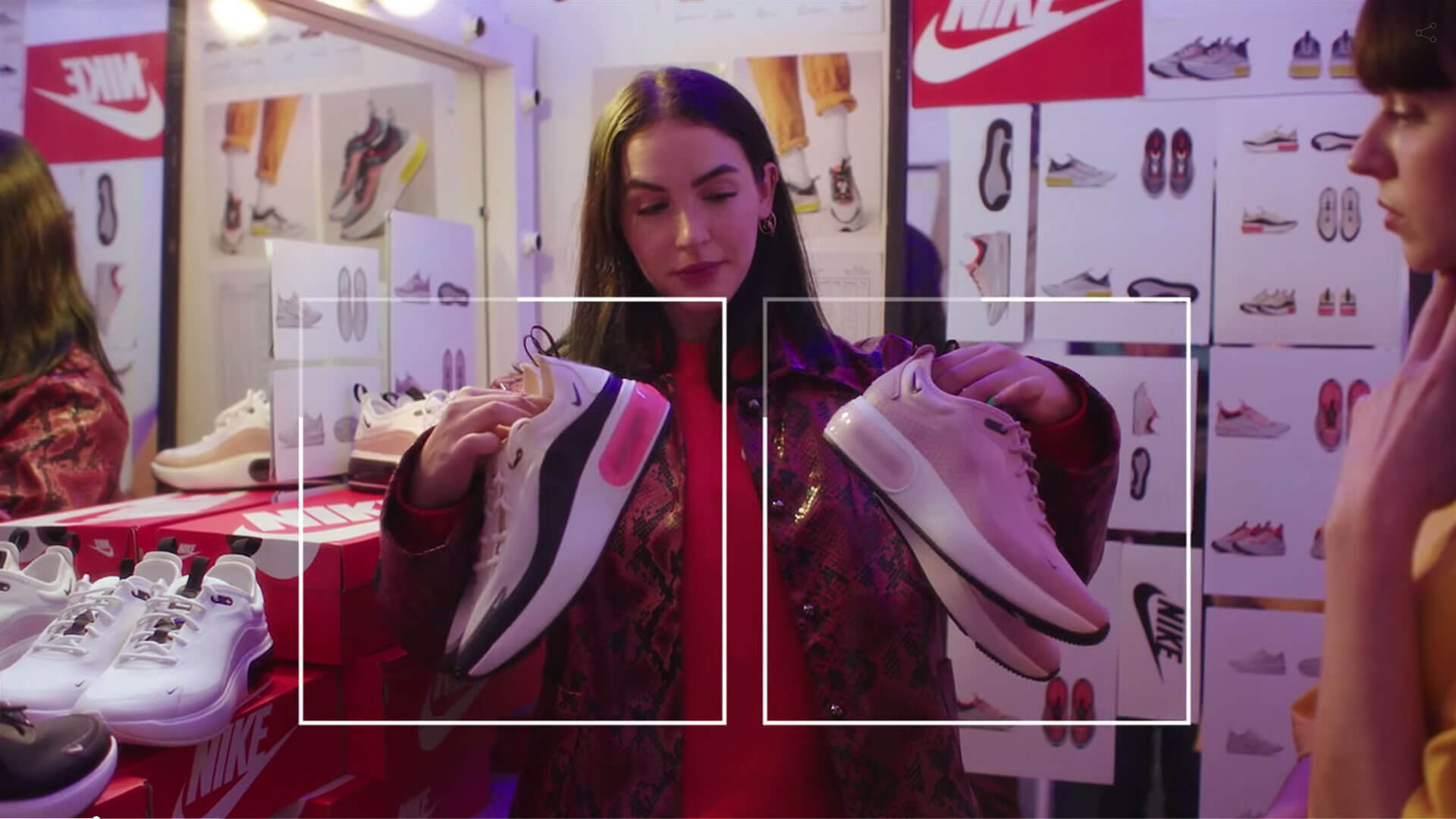 Screenshot of Hype Bae Shoppable video created with WIREWAX interactive video studio.