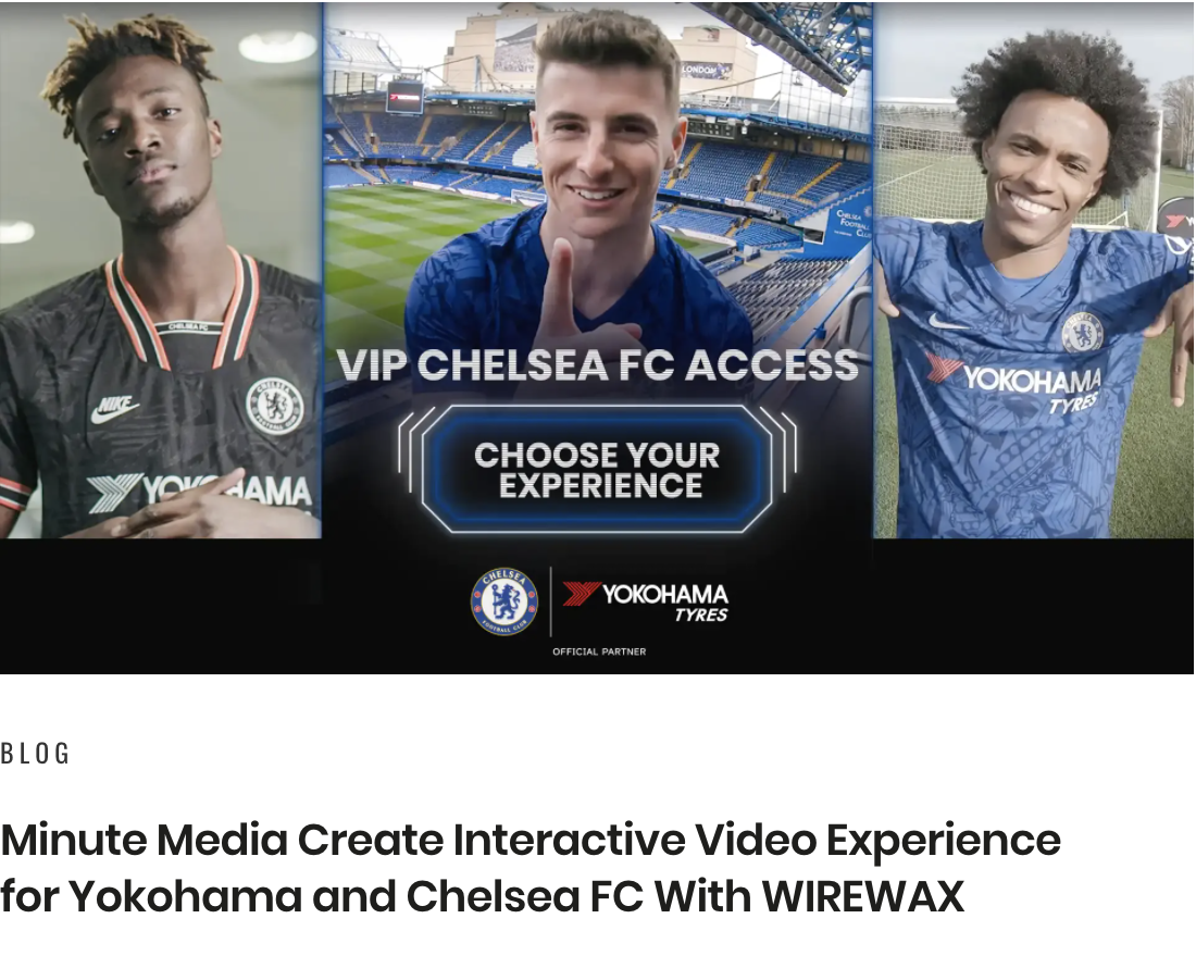 Blog image of interactive video experience for Chelsea Football Club.