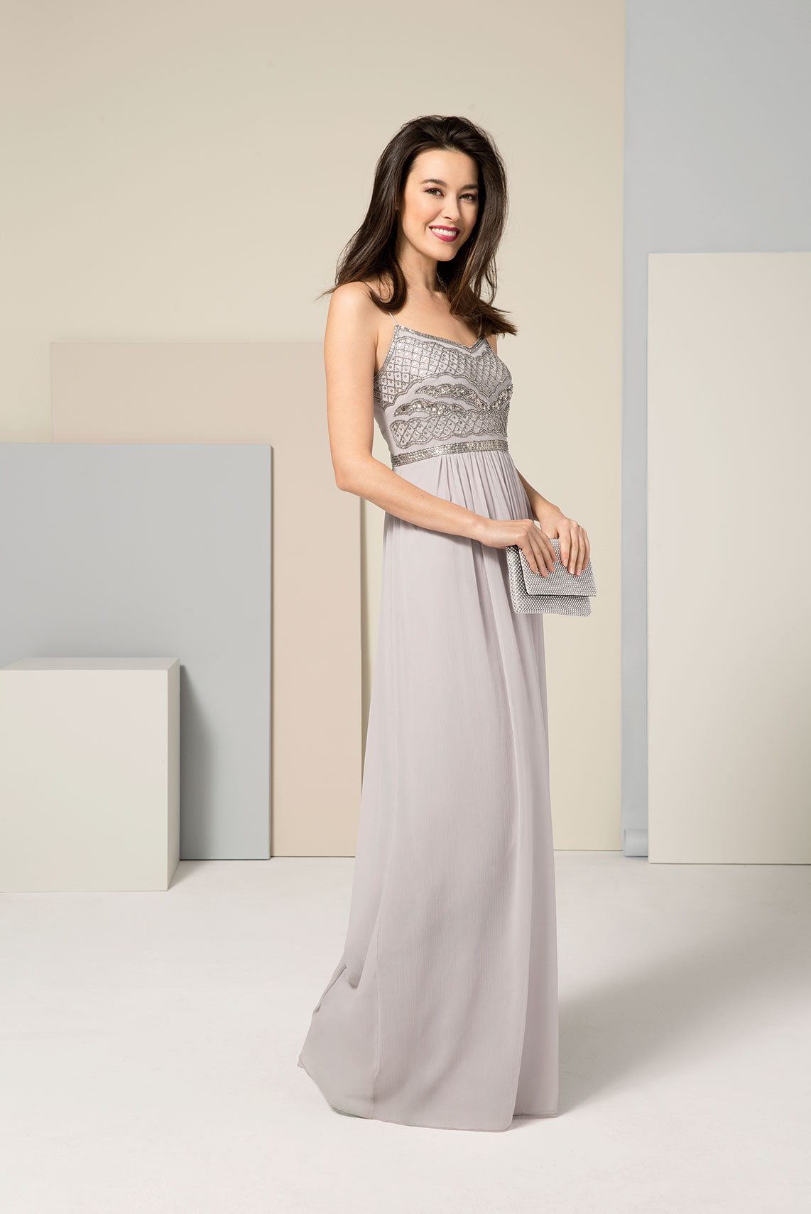 5 gorgeous bridesmaid dress trends for 2017 adrianna papell beaded chiffon gown ombrellifo Gallery