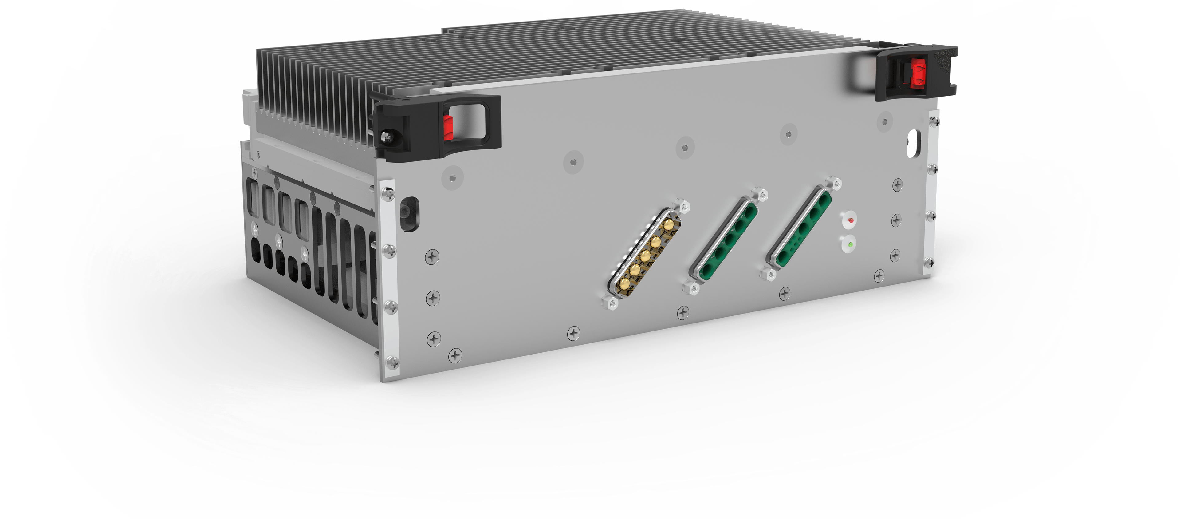 A military-grade power supply designed & Qualified by AirBorn. This unit powers avionics at high altitudes.