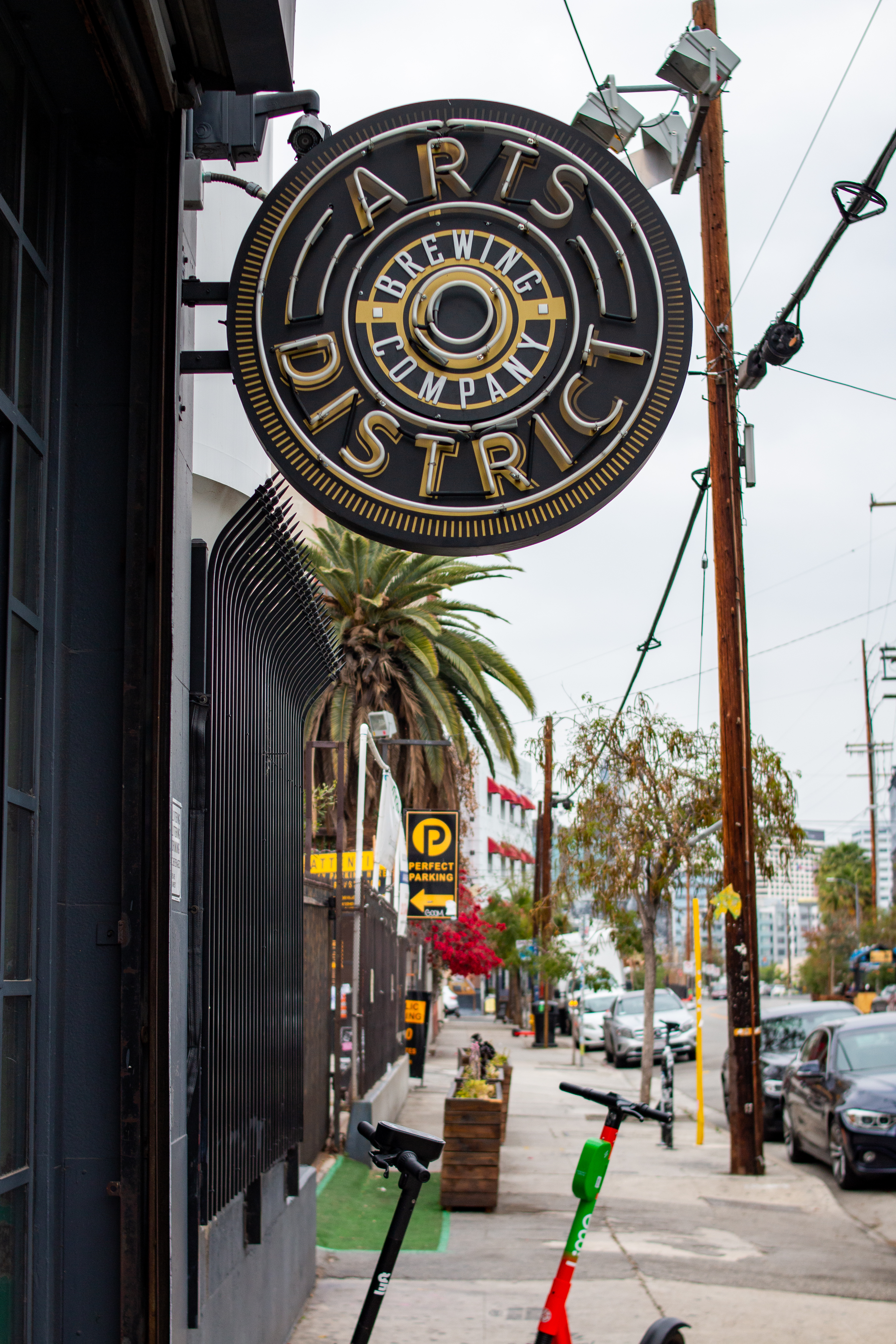 Map of L.A. zip codes highlights Arts District.