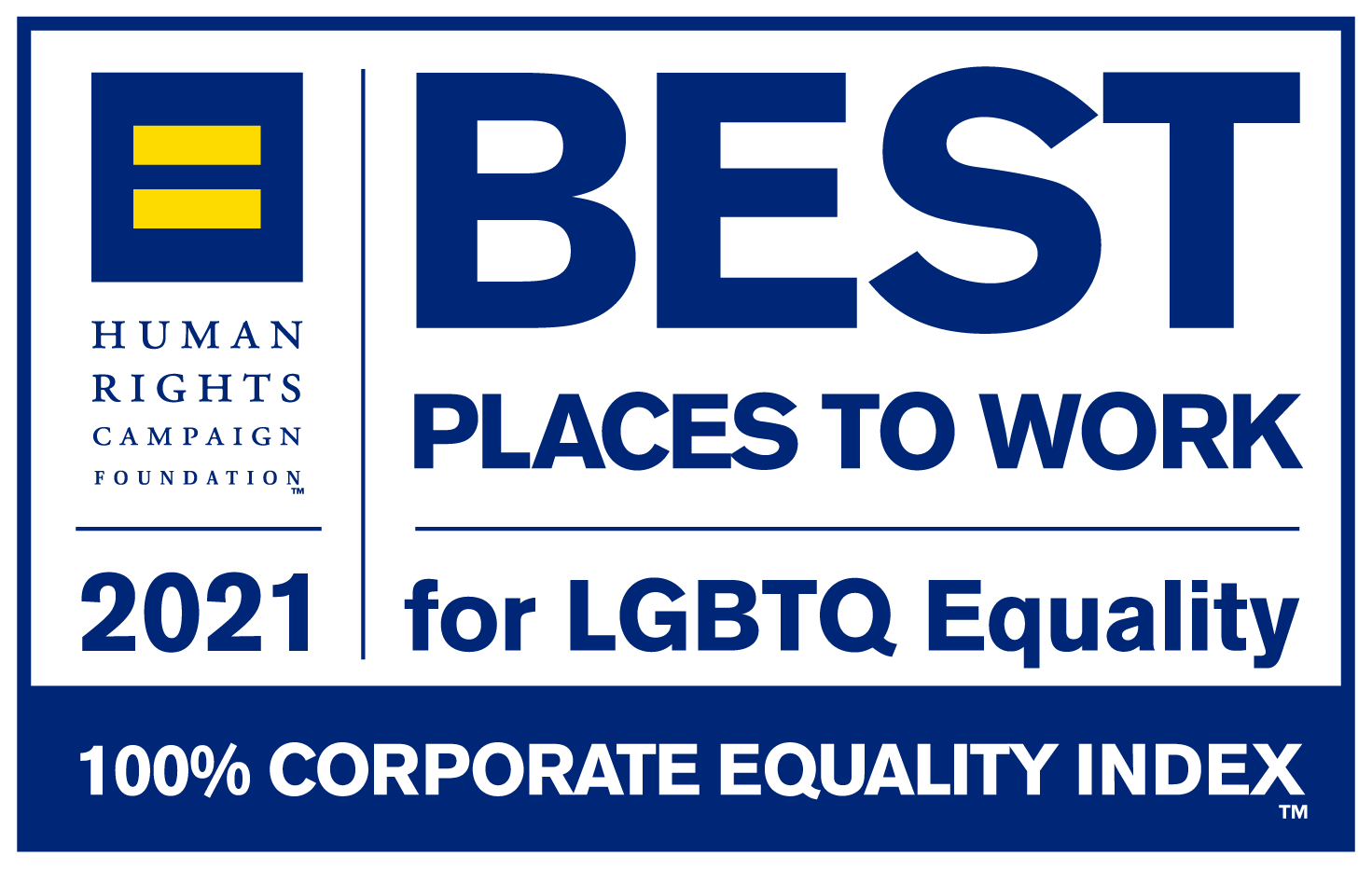 Human Rights Campaign's 2021 Best Places to Work for LGBTQ Equality