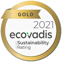 Ecovadis Gold Sustainability Rating for 2021