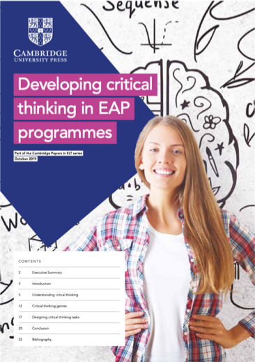 Cambridge University Press research paper - Developing critical thinking in EAP programmes