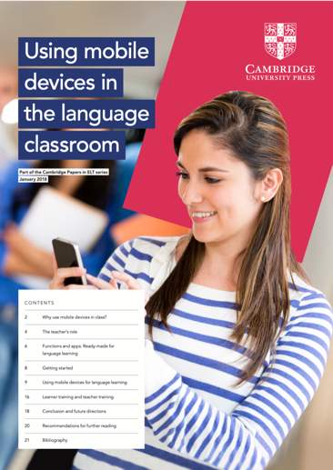 Cambridge University Press research paper - Using mobile device in the language classroom
