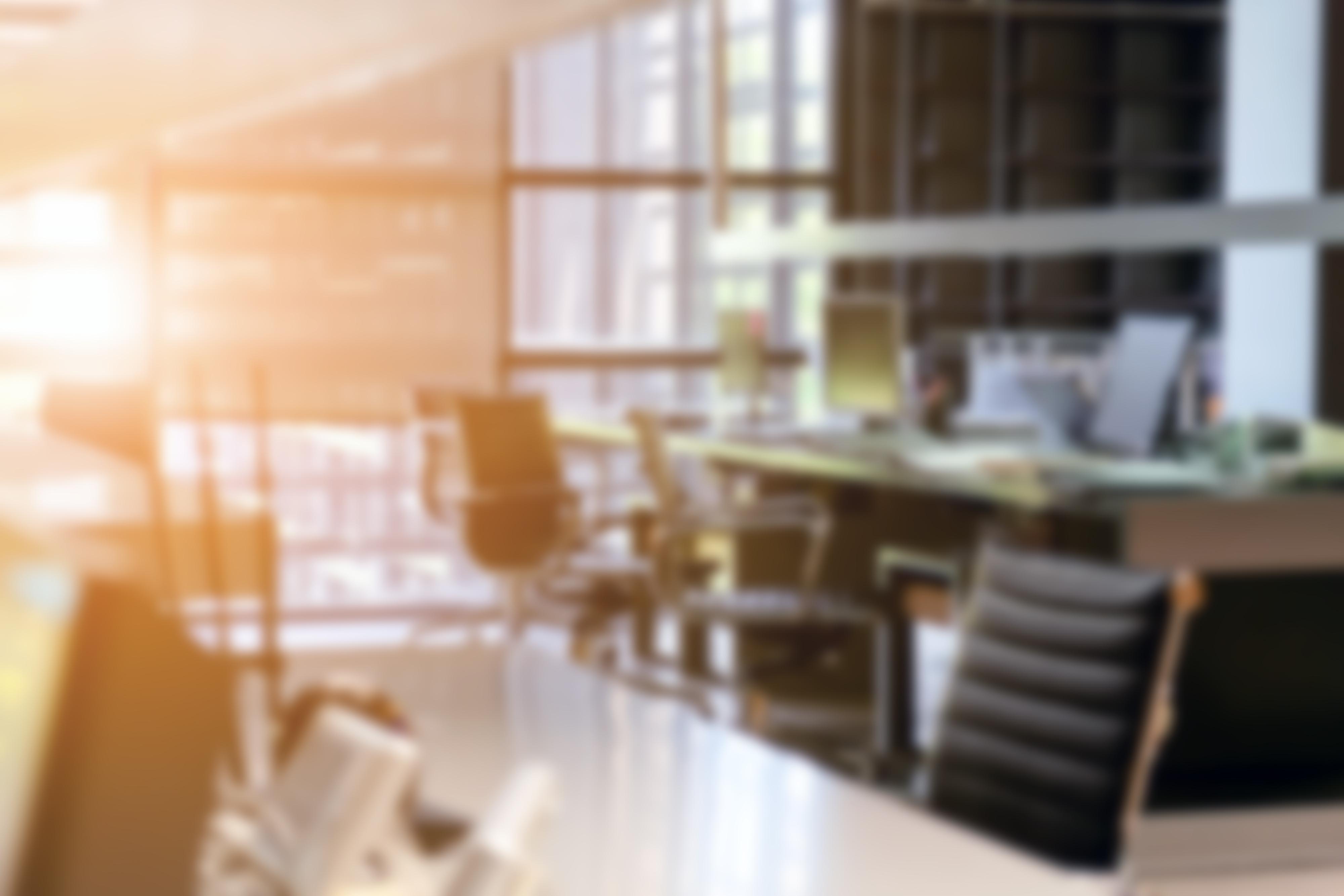 Abstract blur modern office interior background