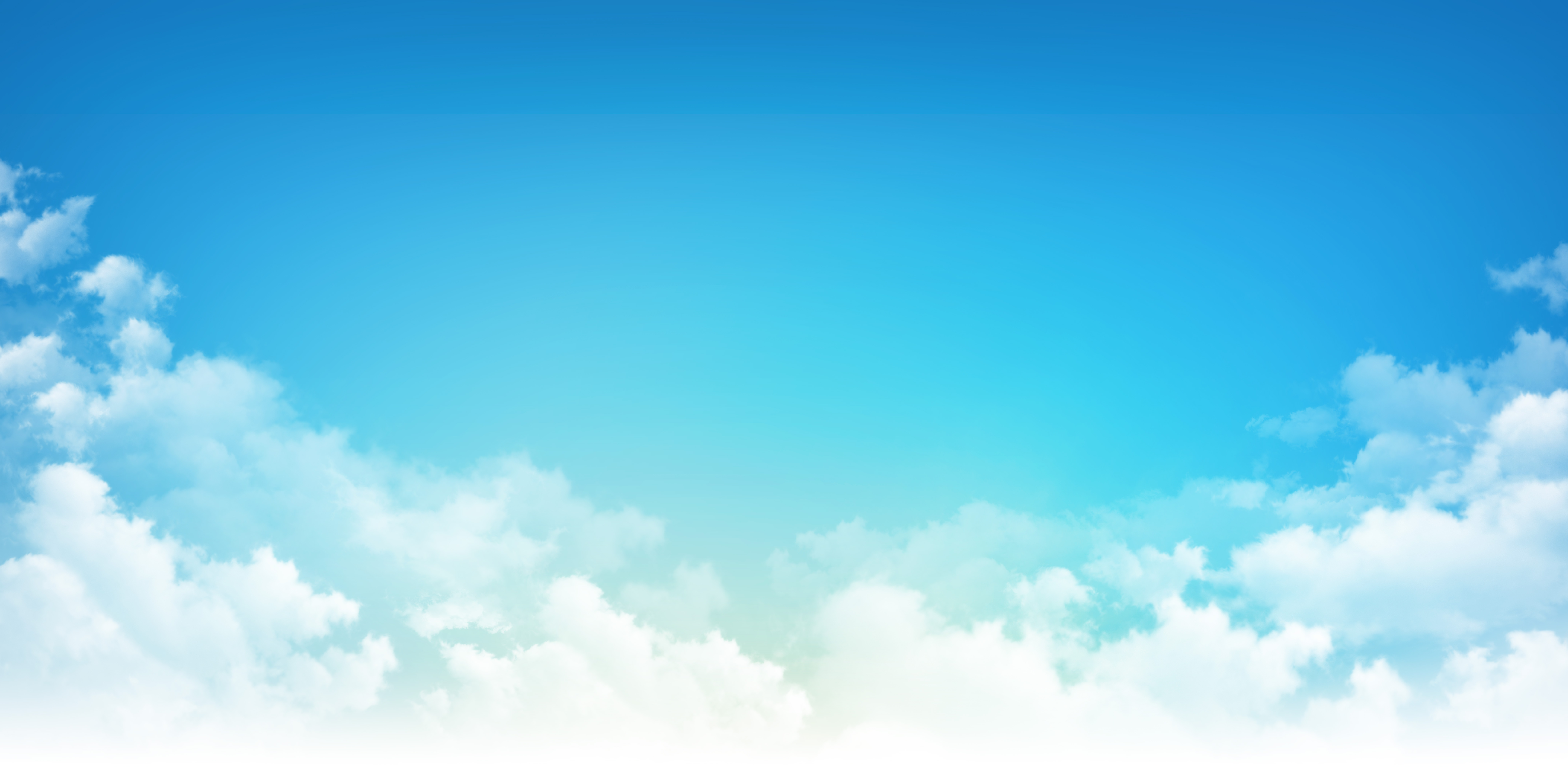 Early blue sky background, sunny light through white clouds