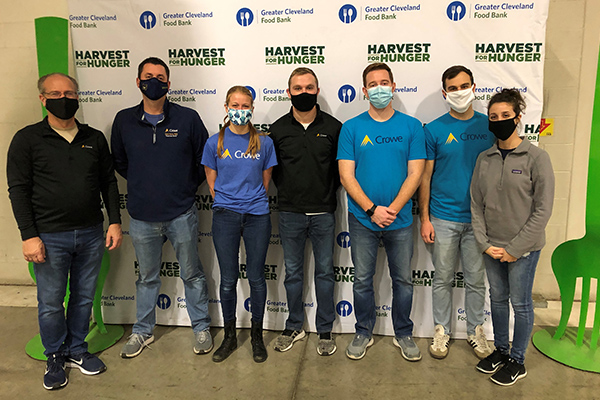Crowe employees participating in the Harvest for Hunger initiative.