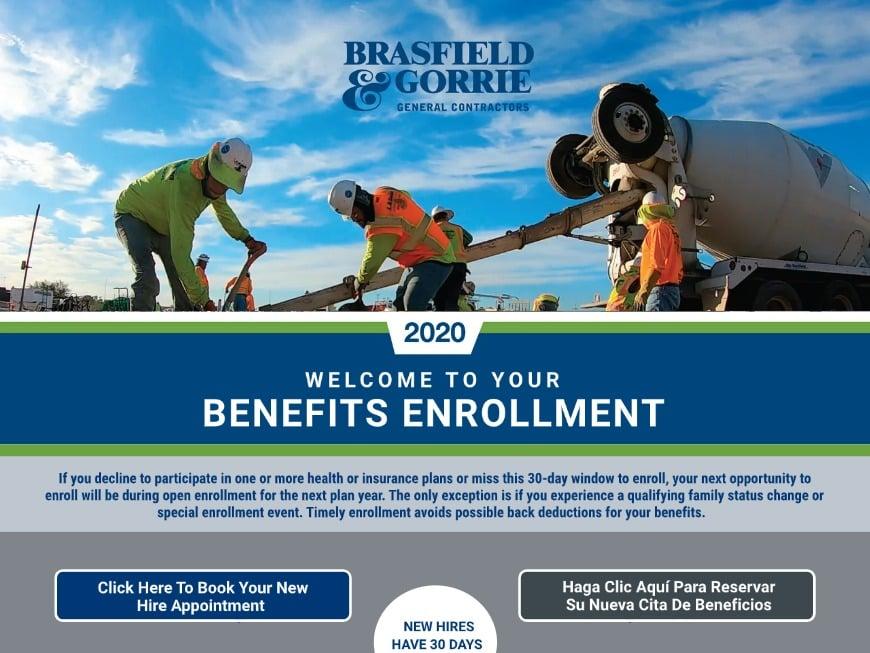 Brasfield & Gorrie 2020 Landing Page