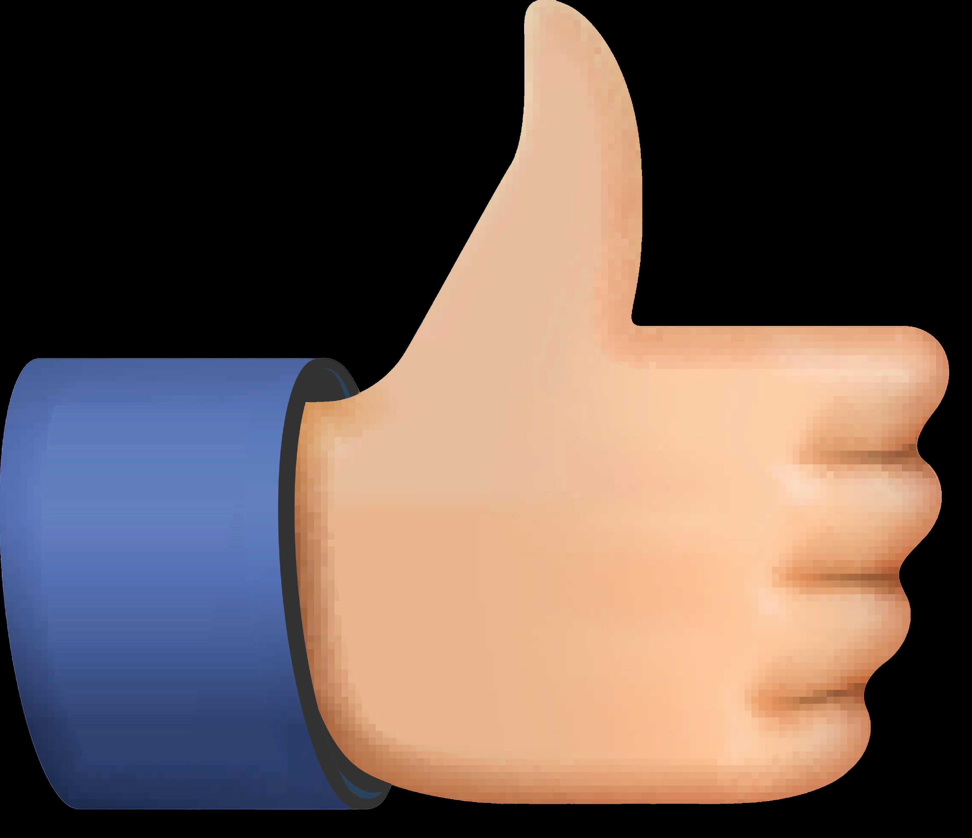 Like icon, emoji thumb up symbol, vector illustration.