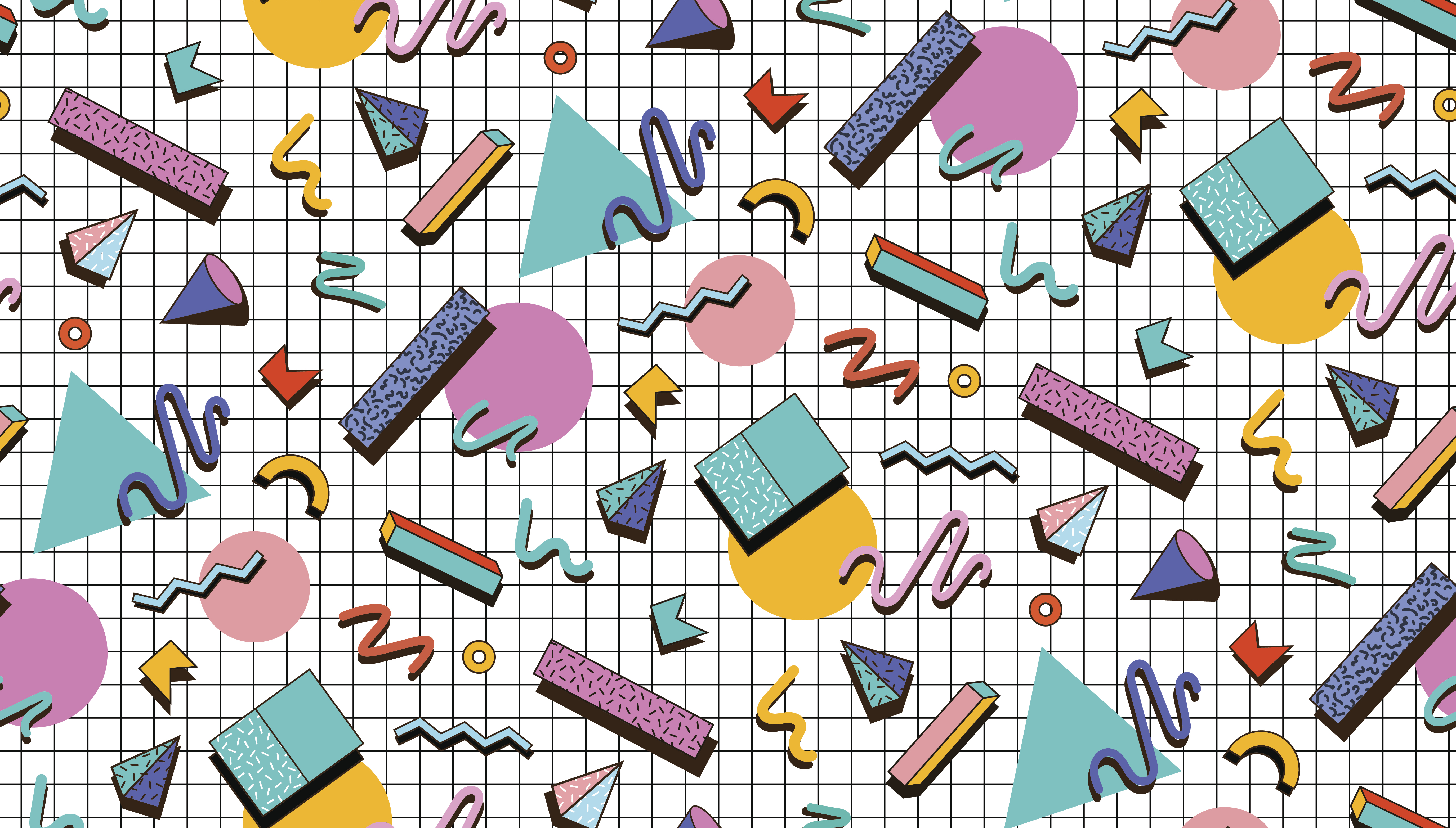 Bright vector pattern 80's. Background checkered bumage.Abstraktne geometric shapes.