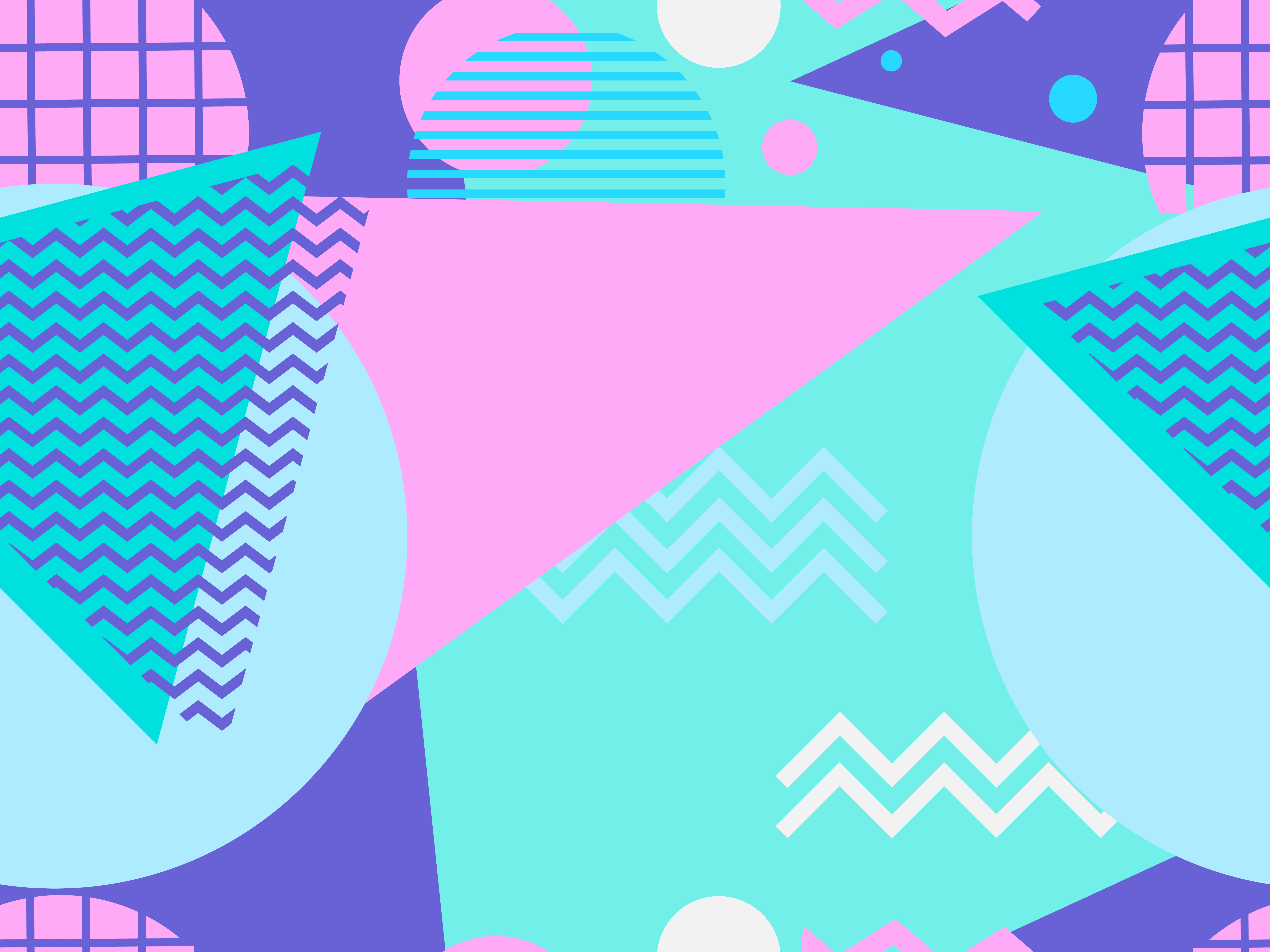 Geometric seamless pattern in style of the 80s. Vector illustration