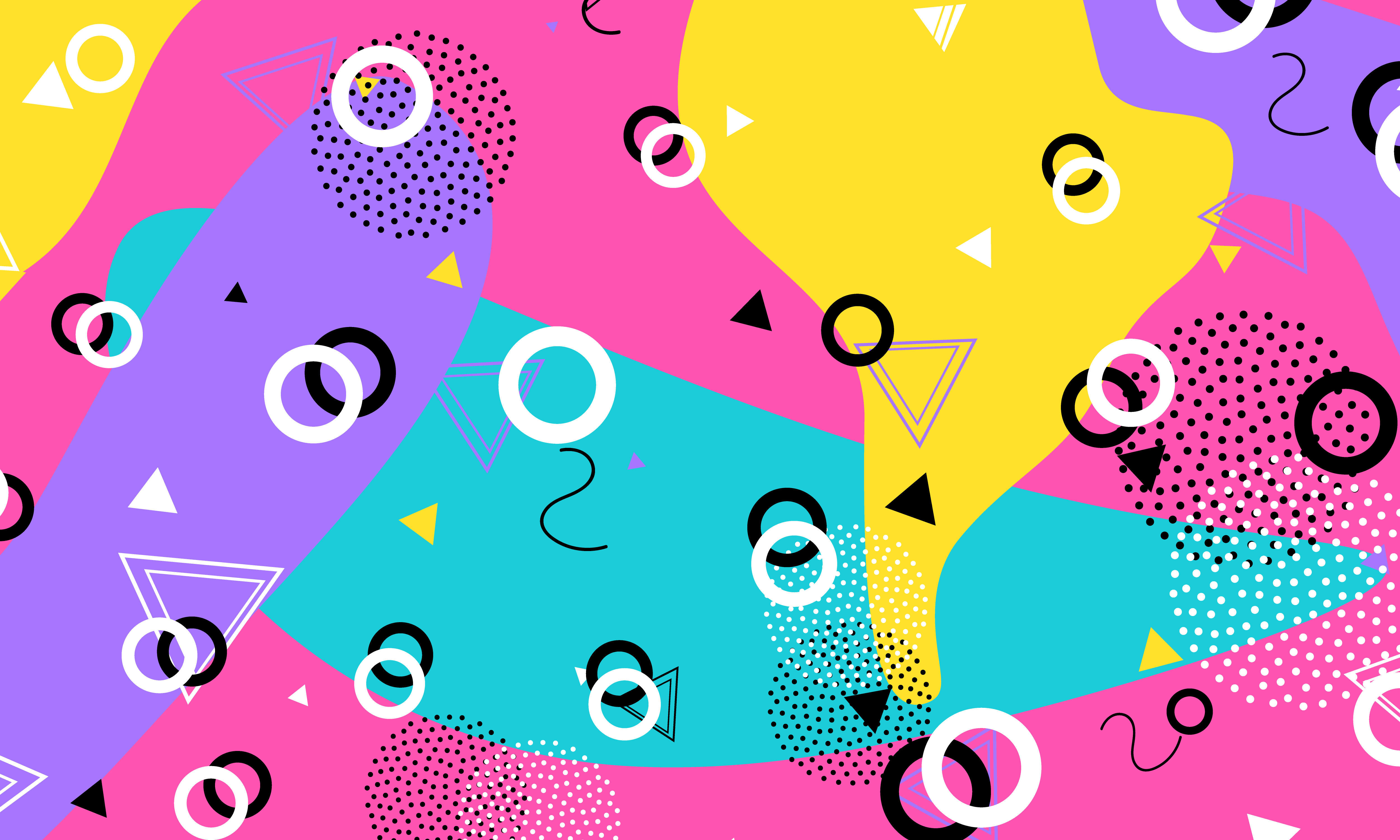 Abstract retro background. retro. 90s pattern. Geometric shapes background. Vector Illustration. Hipster style 80s-90s.