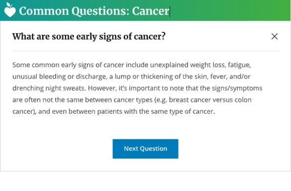 Live Common Questions Cancer