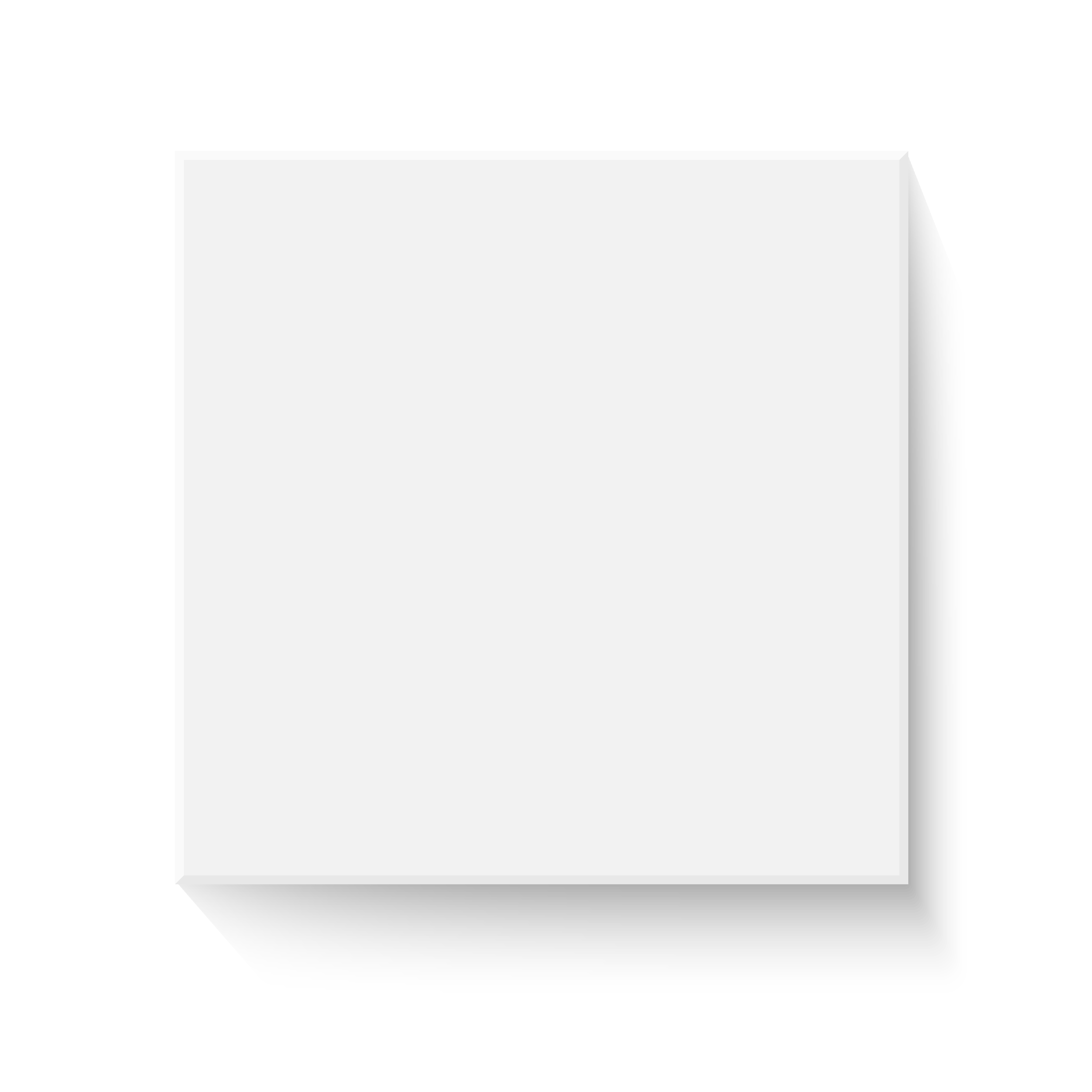 White box mockup. Blank box template with closed open.
