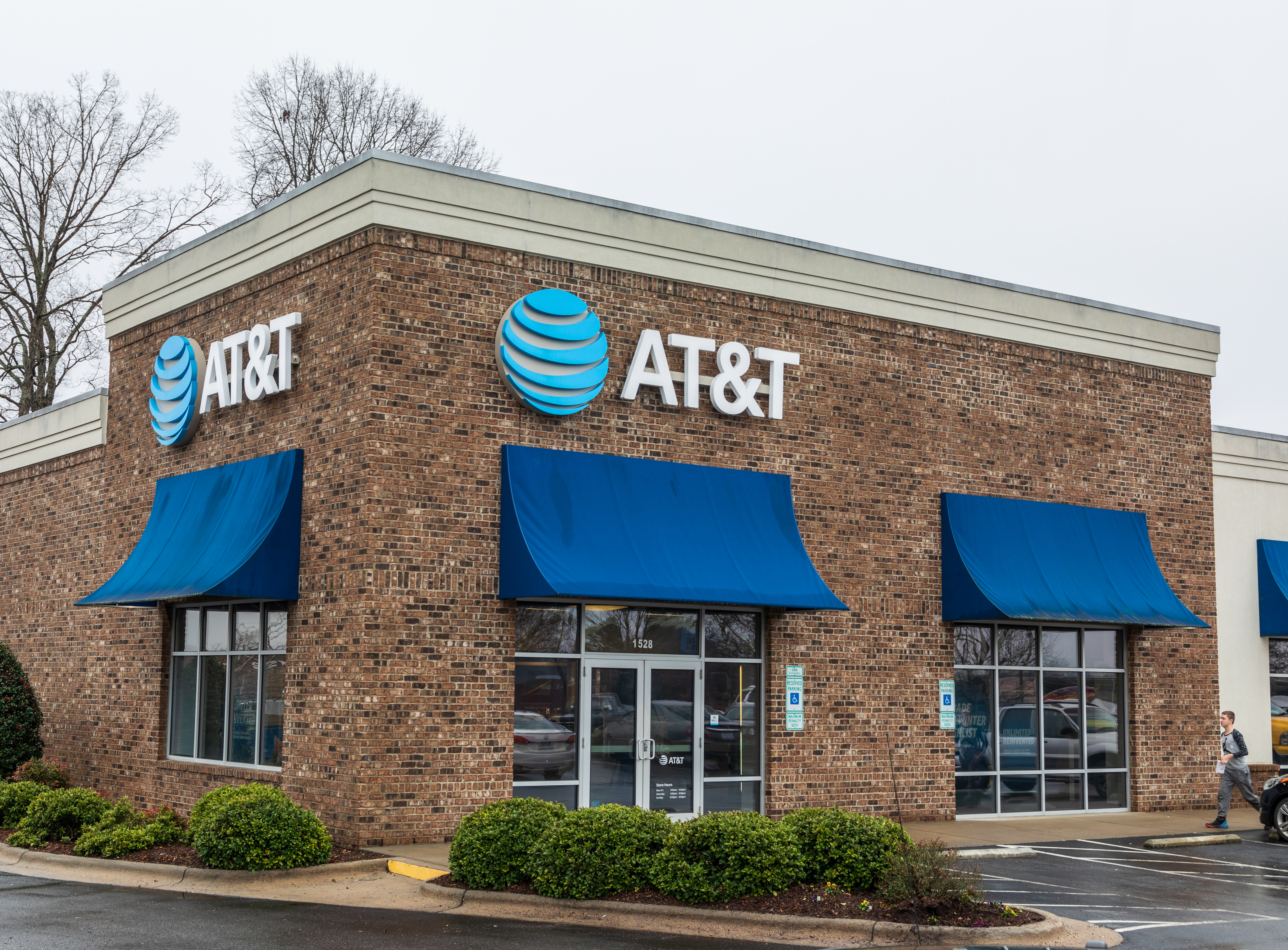 Hickory, NC, USA-1/3/19: A local AT&T retail store for wireless communications and devices.