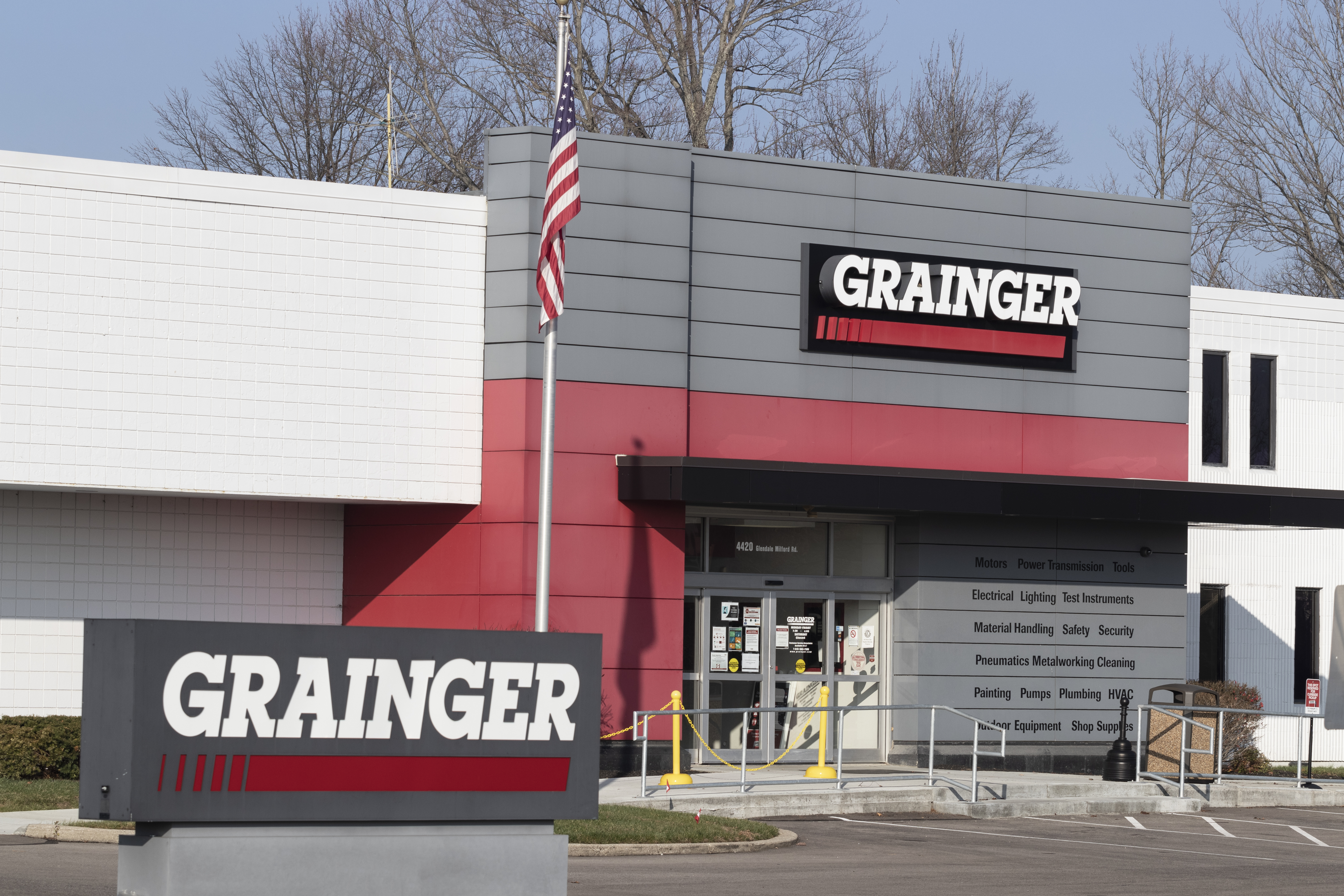 Blue Ash - Circa November 2020: Grainger industrial supply warehouse. WW Grainger is a hardware and safety supply manufacturer.