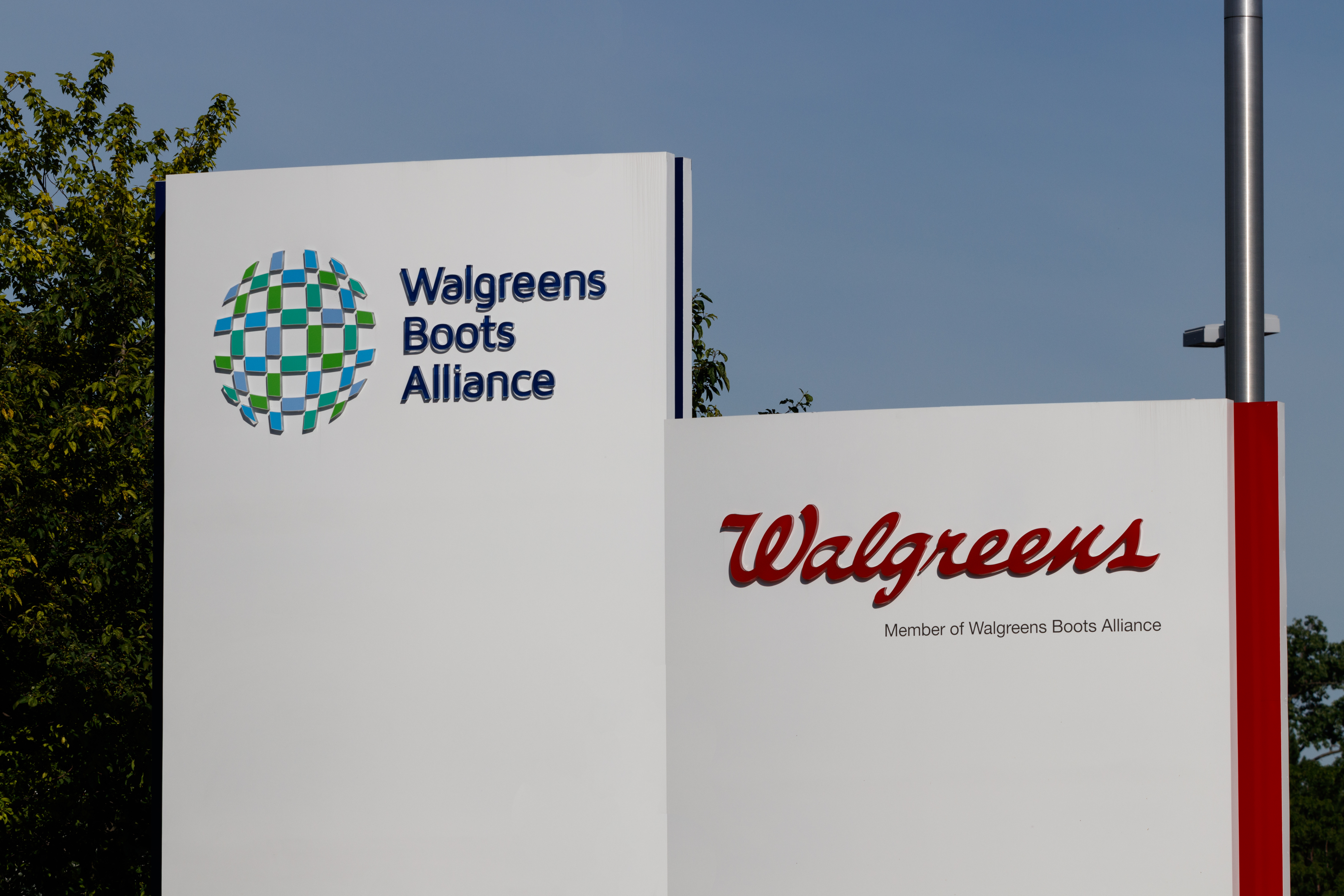 Deerfield - Circa June 2019: Walgreens Boots Alliance Headquarters. WBA brought together Walgreens and Alliance Boots pharmaceuticals.