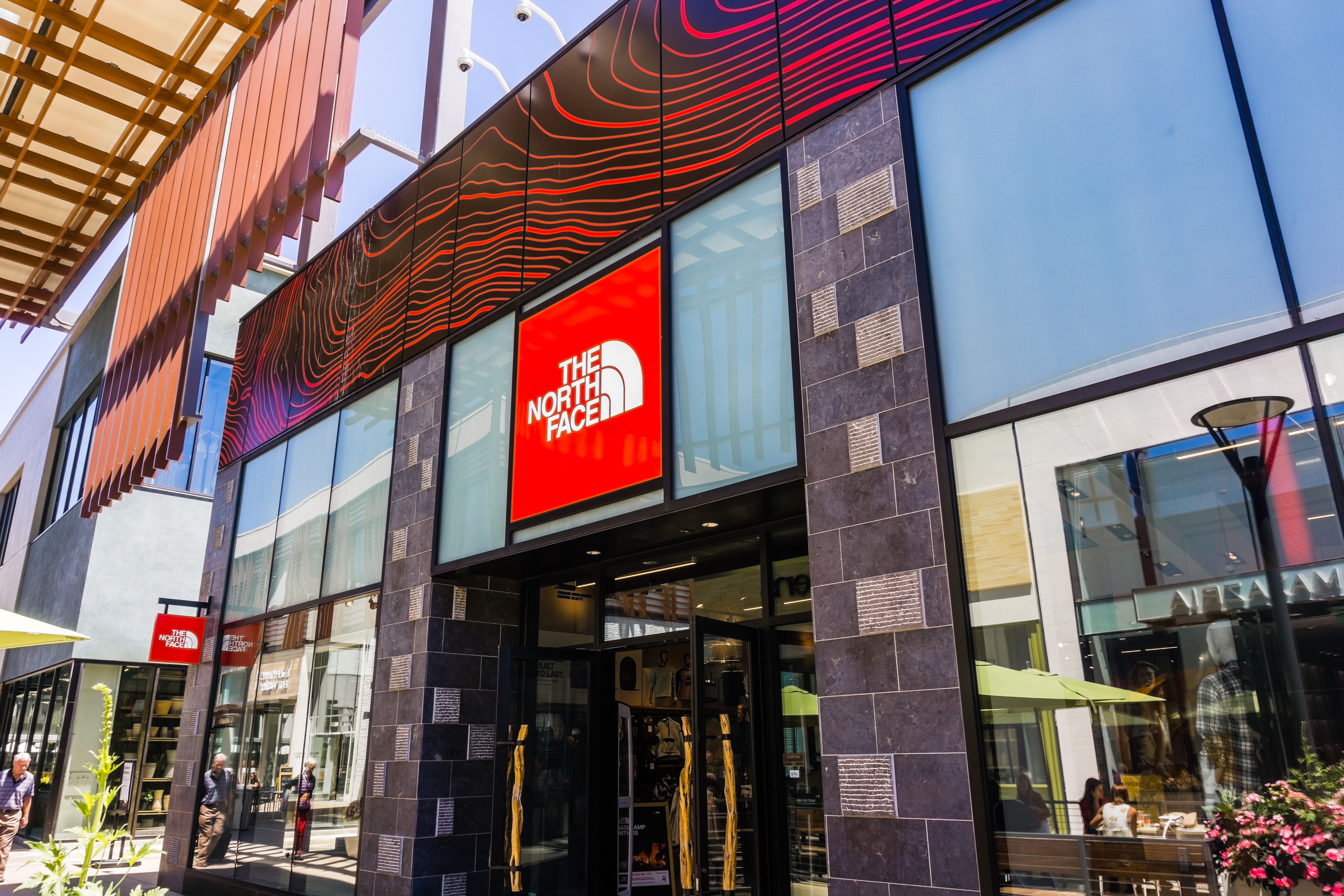 August 2, 2018 Palo Alto / CA / USA - The North Face store located in the upscale open air Stanford Shopping Mall, Silicon Valley, California
