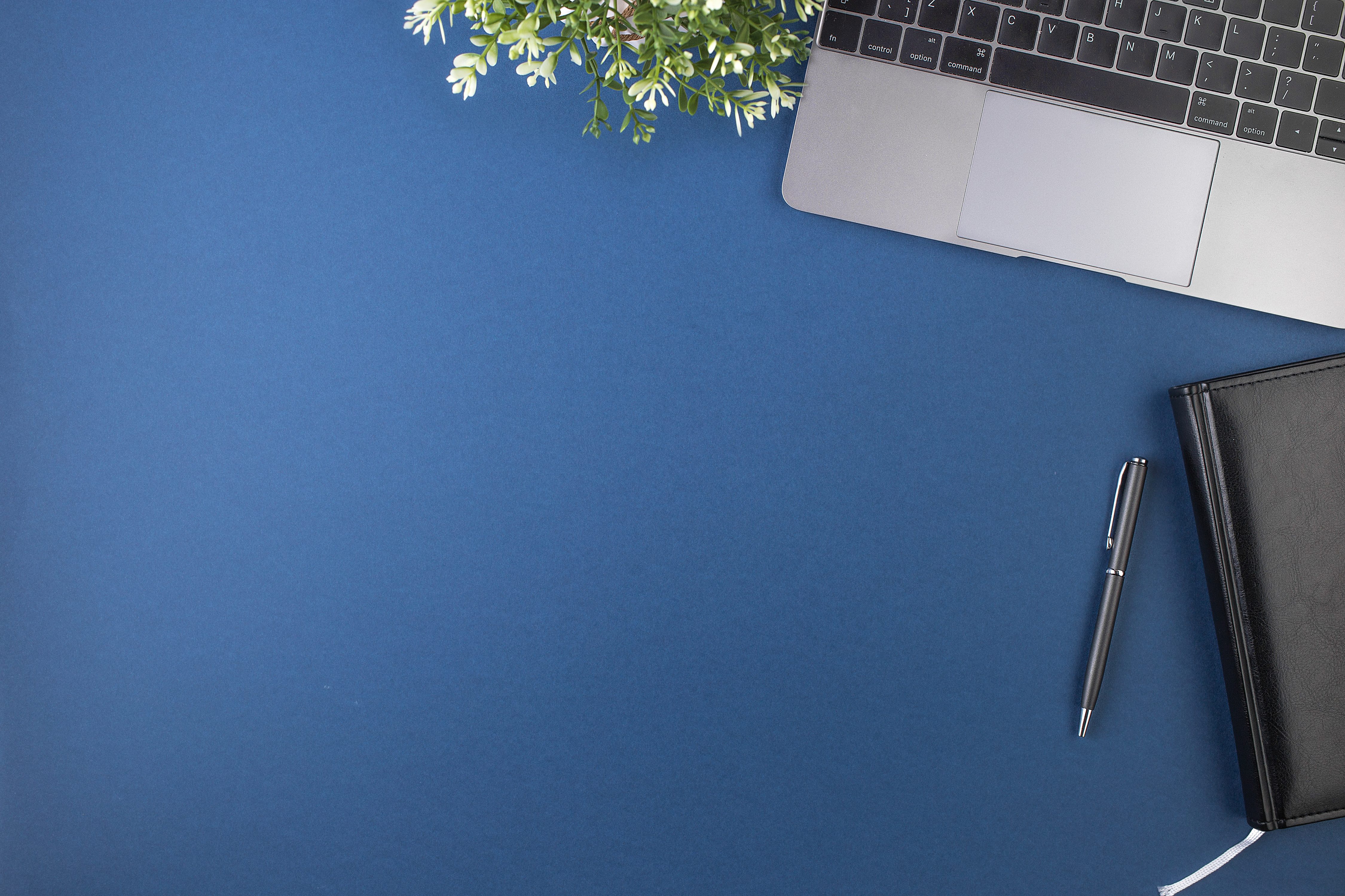 workspace, blue, background, desk
