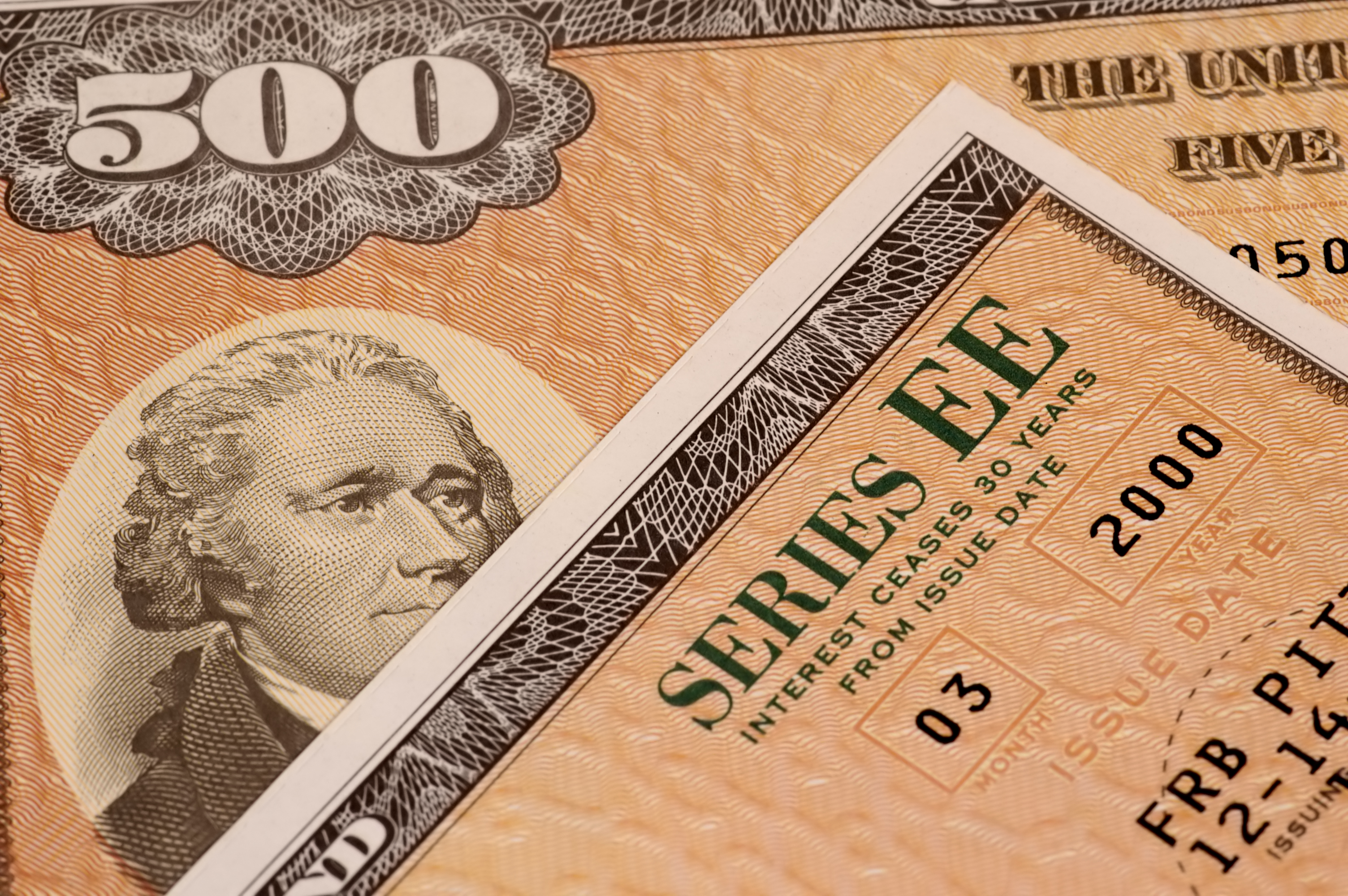 Photo of 2 Series EE Savings Bonds