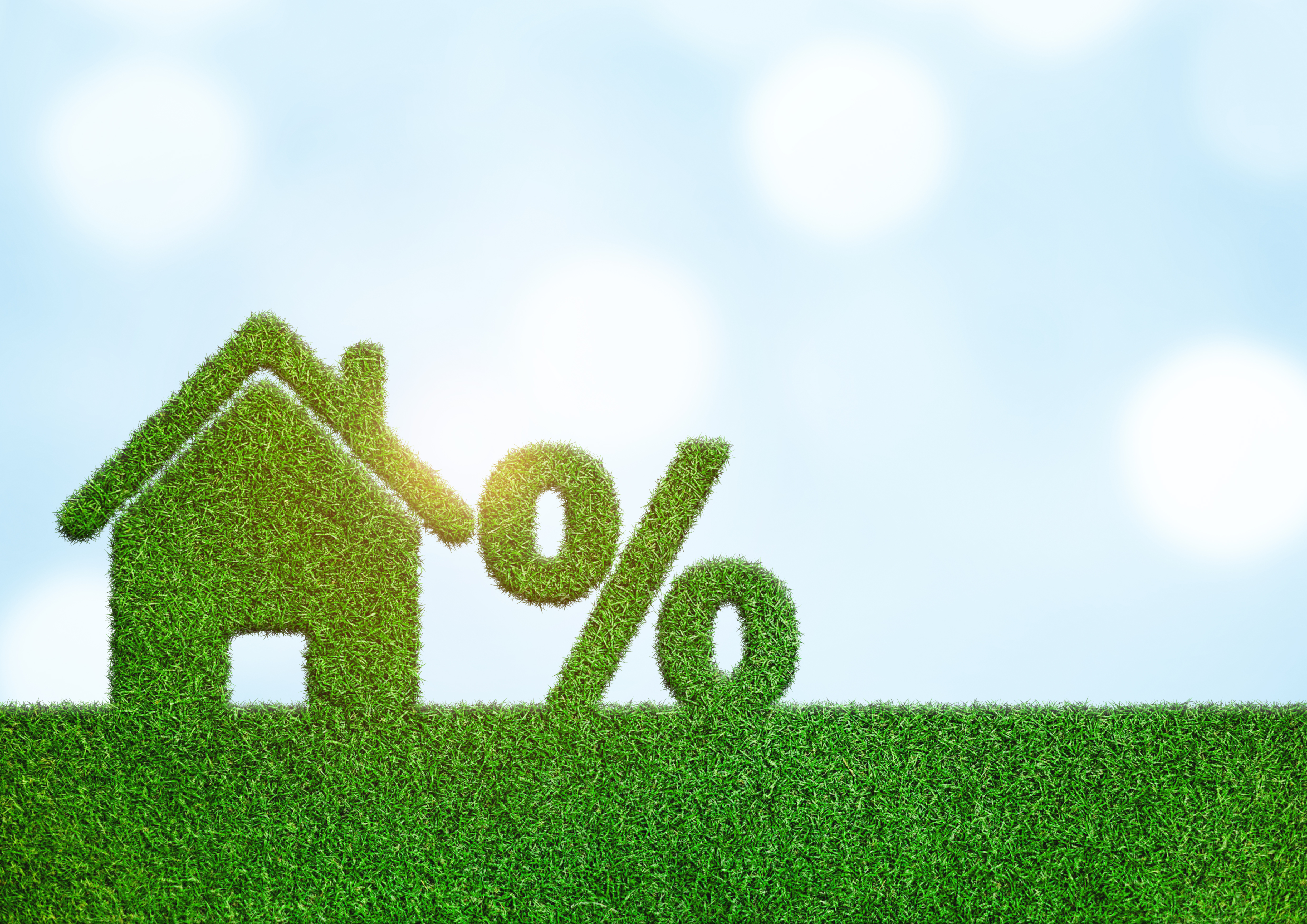 Property investment and house mortgage financial real estate concept