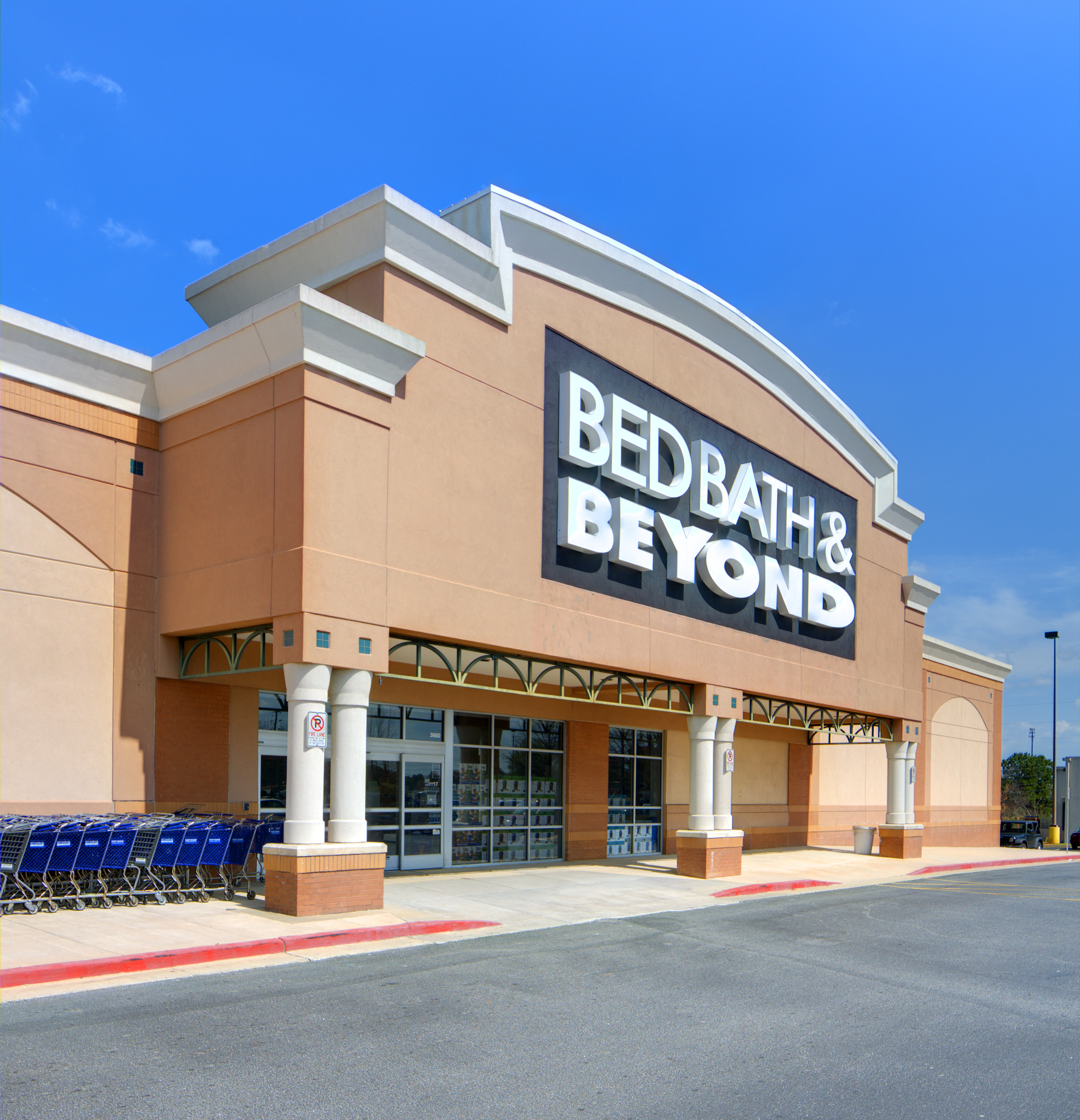 Athens, Georgia, USA - March 15, 2012: The mid-ranged domestic merchandiser Bed Bath & beyond is a fortune 500 company formed in 1971 specializing in bed and bath products.