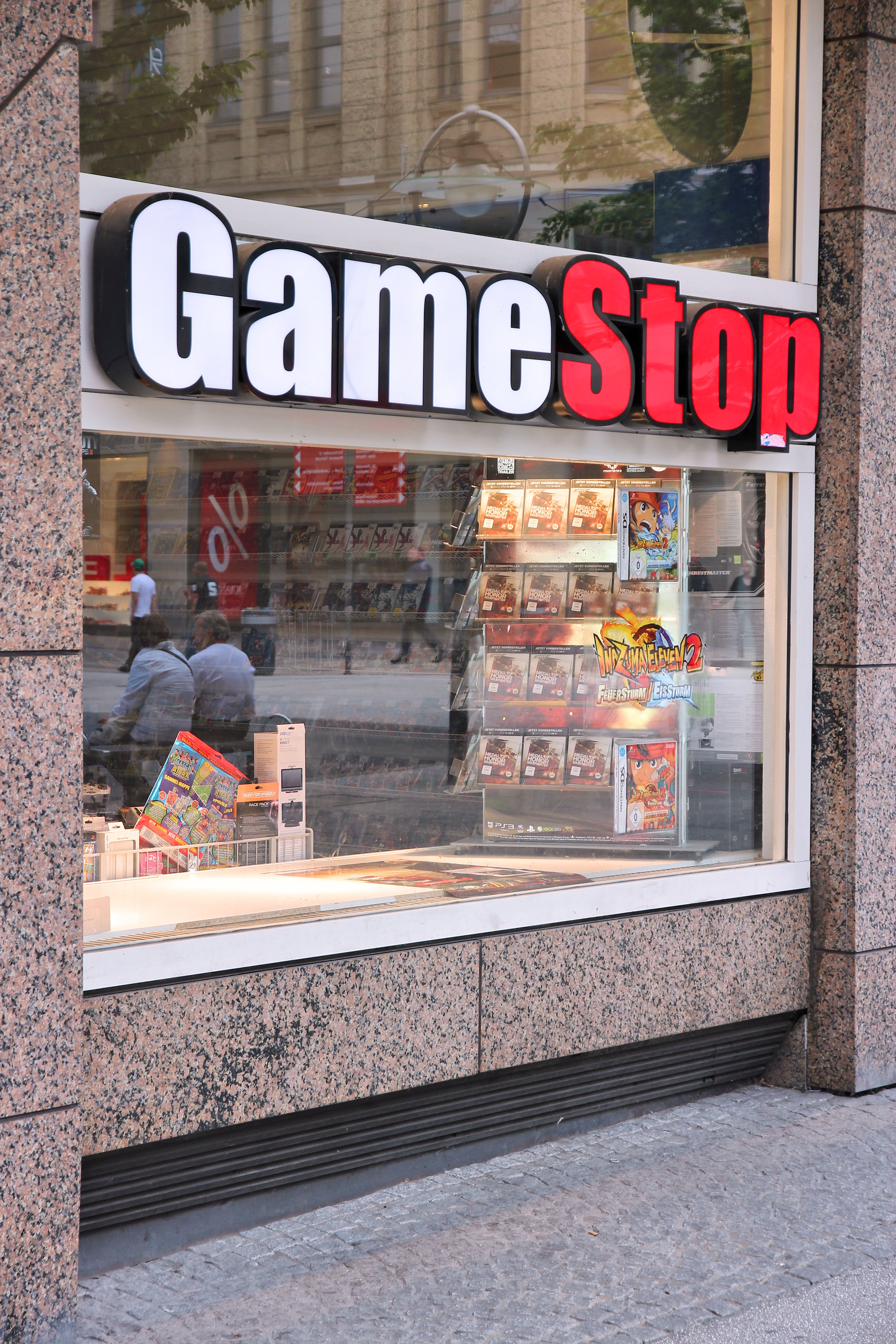 Dortmund, Germany - July 15, 2012: Gamestop store in Dortmund, Germany. Gamestop Corporation exists since 1984 and has 6,700 stores in many countries.