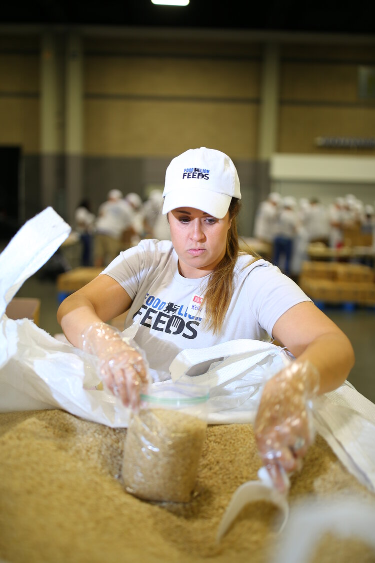 Loading dry goods for Food Lion Feeds