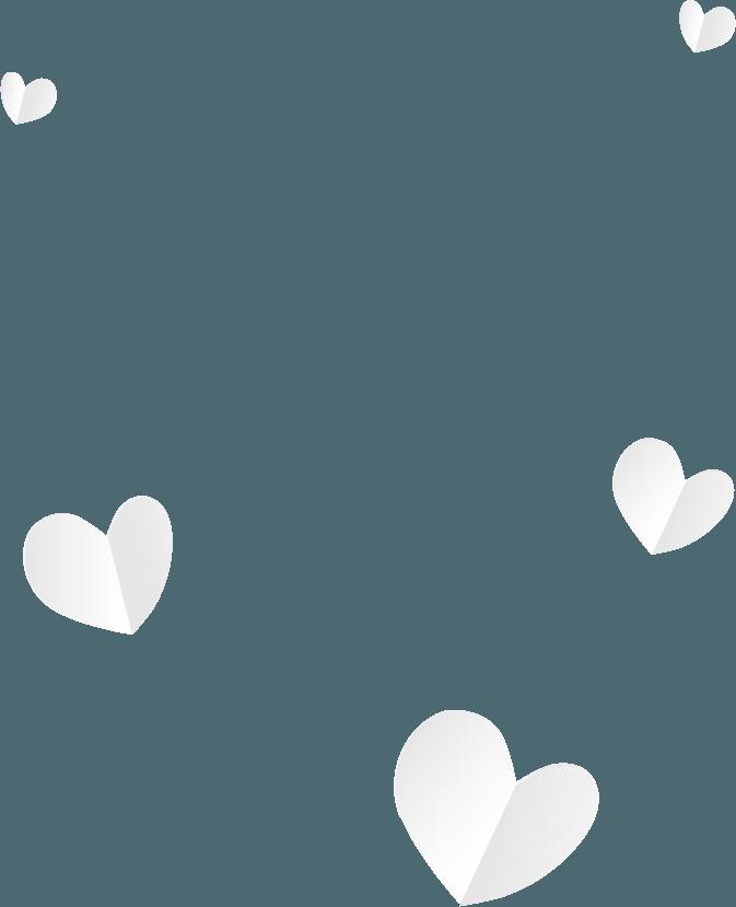 Clouds shaped like a heart