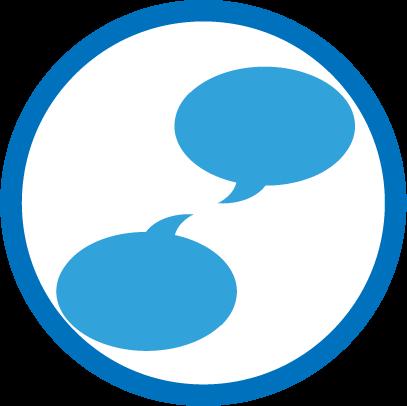 Social chat bubble icon