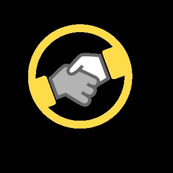 Hand shaking icon