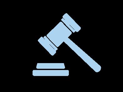 Court hammer icon