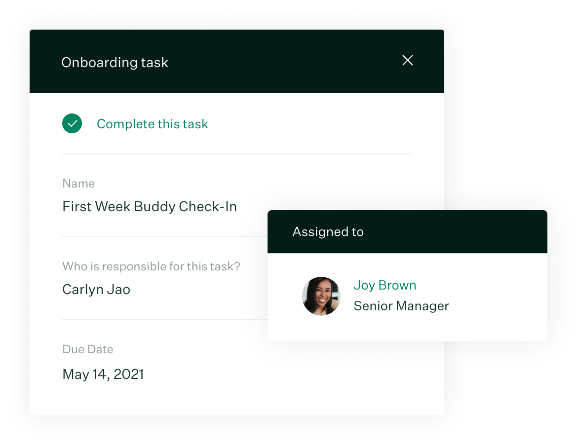 Image of Greenhouse Onboarding new hire tasks