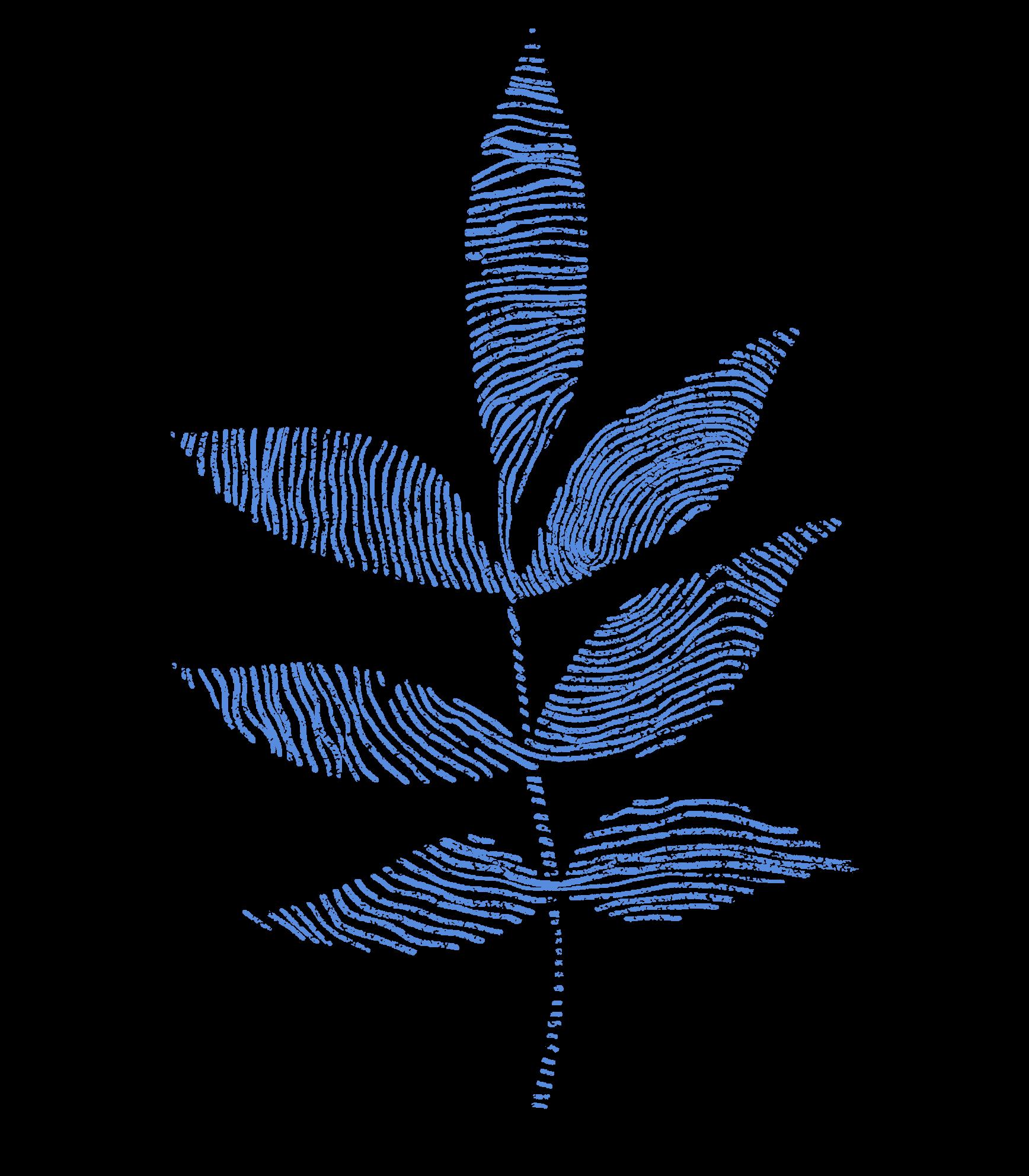 Blue botanical fingerprint