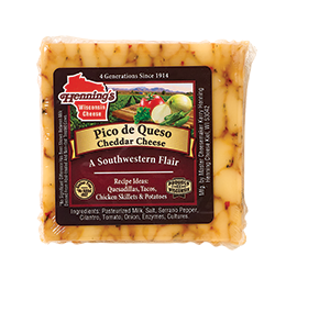 Henning's Pico de Queso Cheese Slices