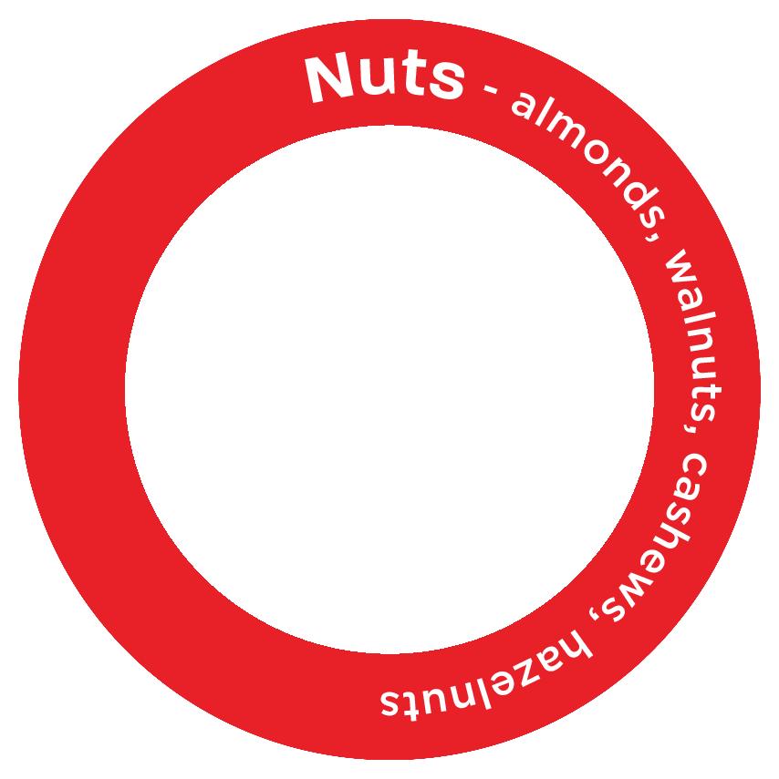 Nuts - almonds, walnuts, cashews, hazelnuts