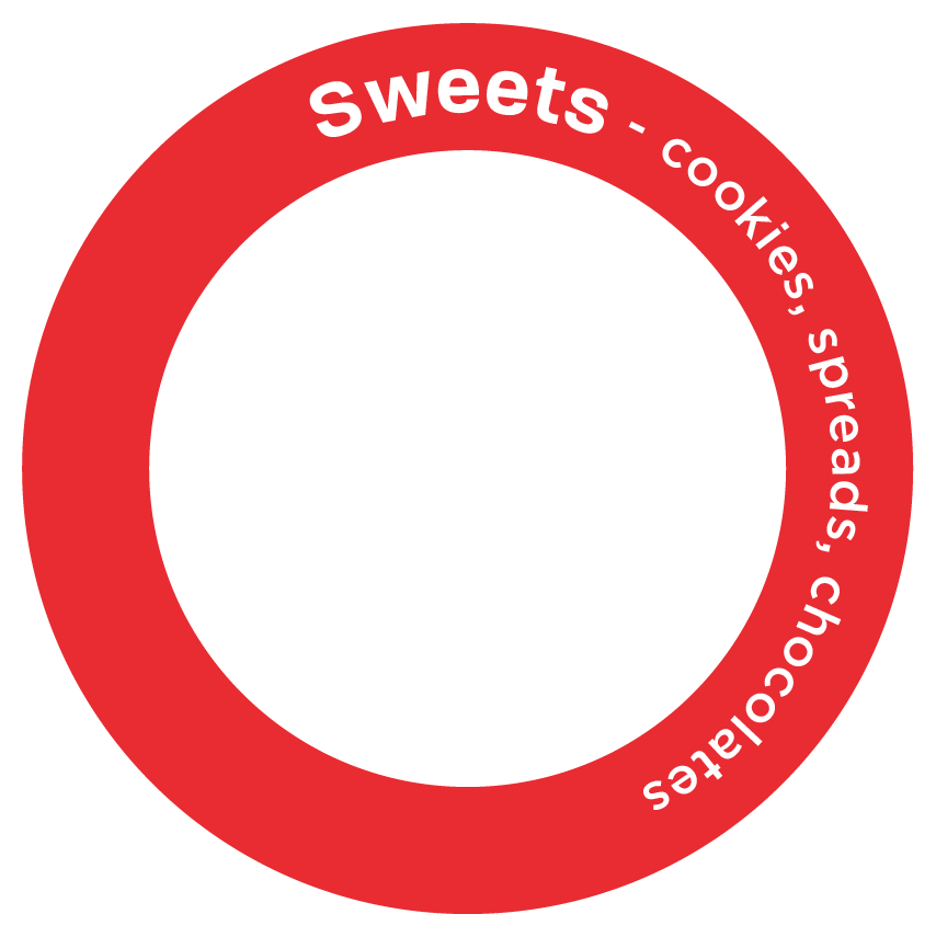 Sweets - cookies, spreads, chocolates