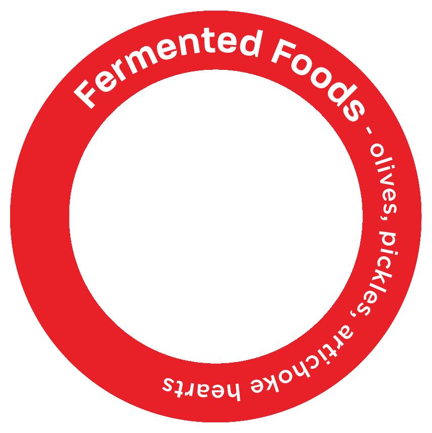 Fermented Foods - olives, pickles, artichoke hearts