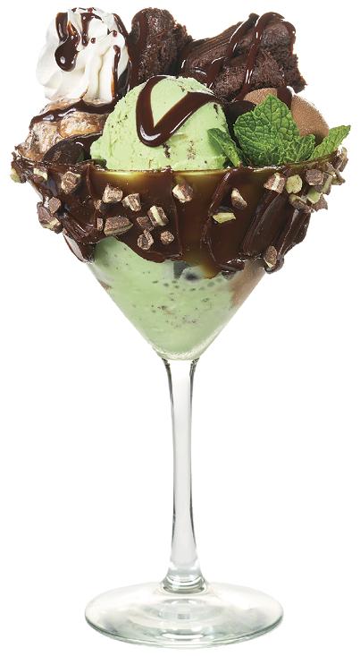 Grasshopper Sundae in Martini Glass