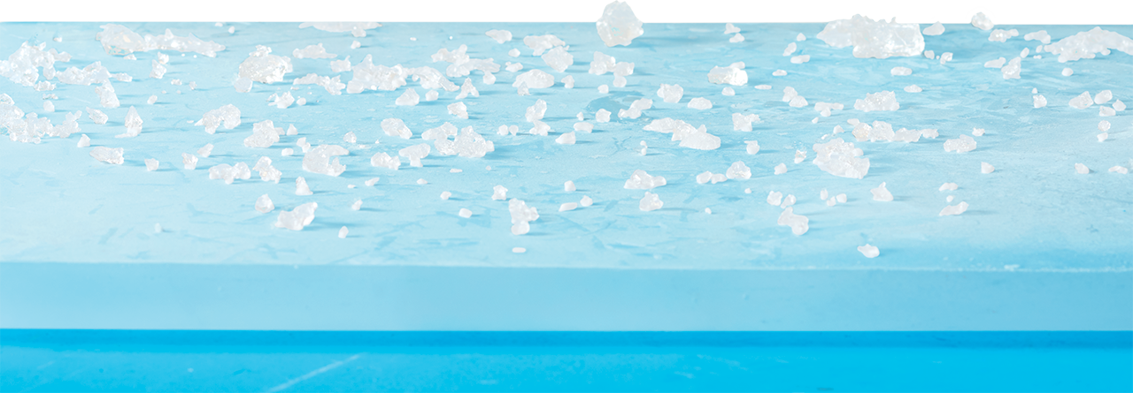 Ice Block with Crushed Ice on Top