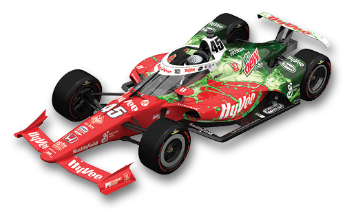 Hy-Vee Mountain Dew Themed Formula One Car